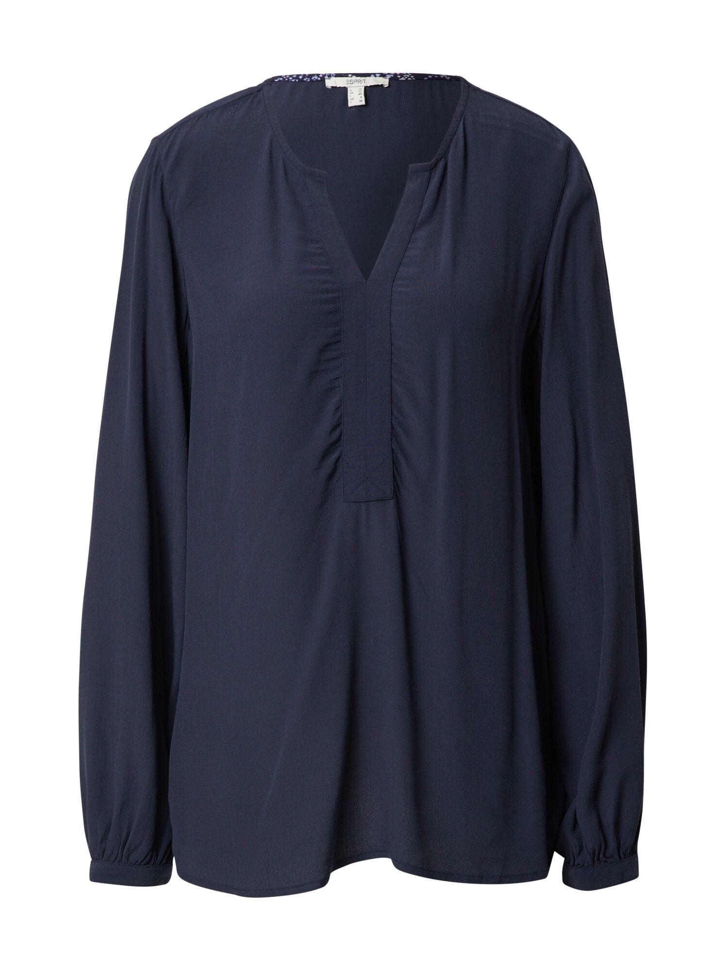 Esprit Chemisier 'Marocain'  - Bleu - Taille: 38 - female