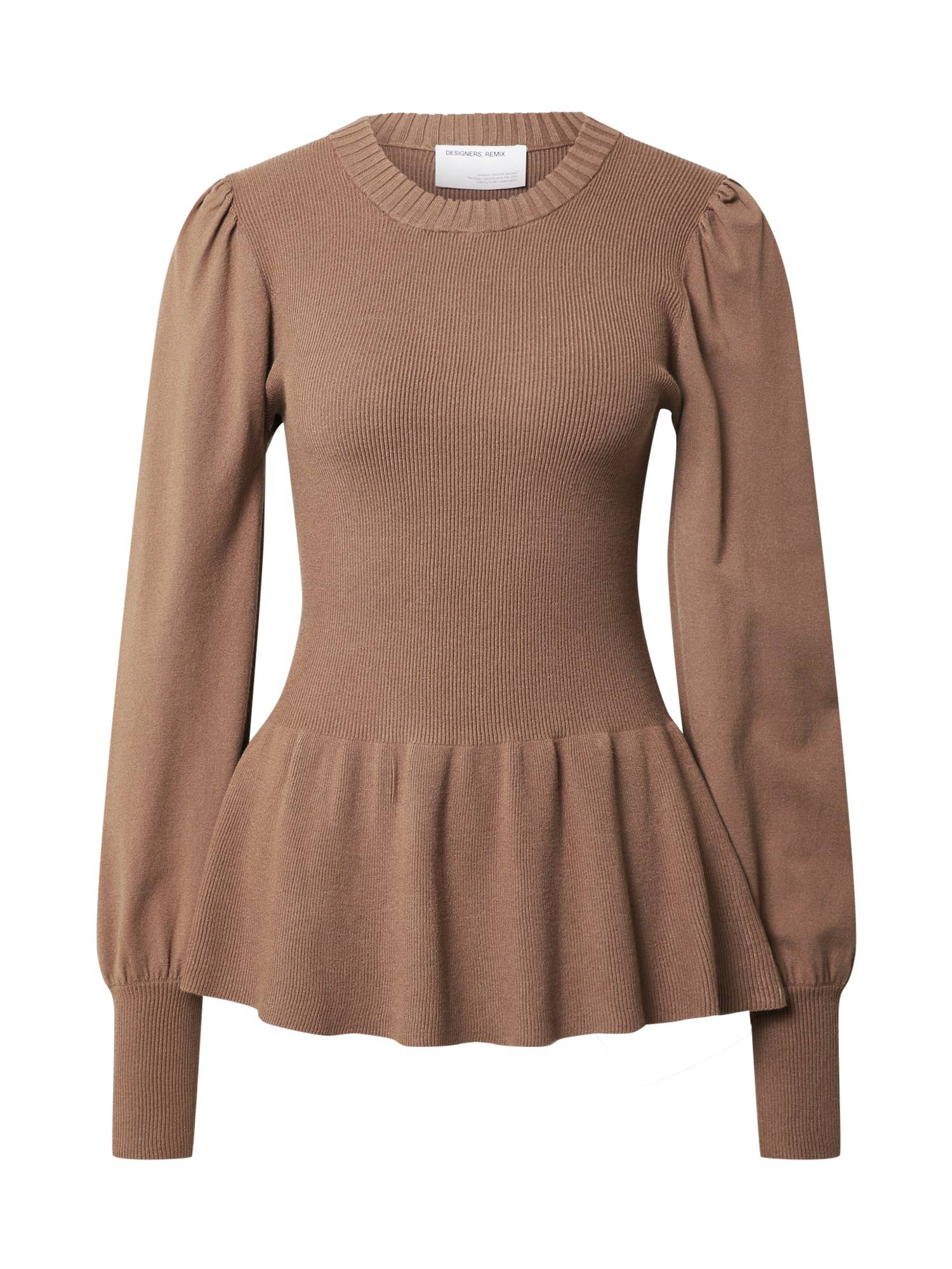 Designers Remix Pull-over 'Mandy'  - Marron - Taille: XL - female