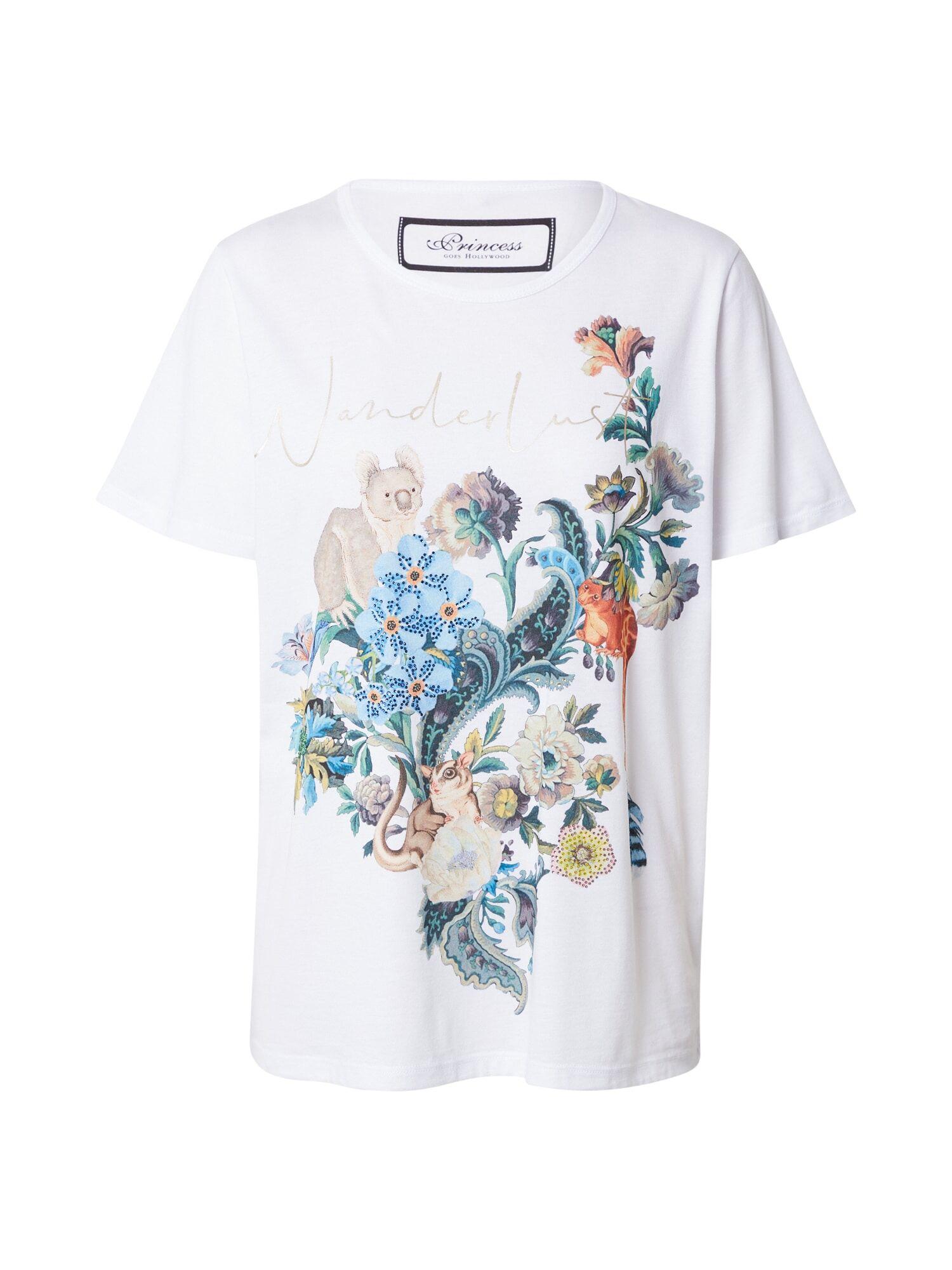 Princess T-shirt 'Wanderlust'  - Blanc - Taille: 40 - female