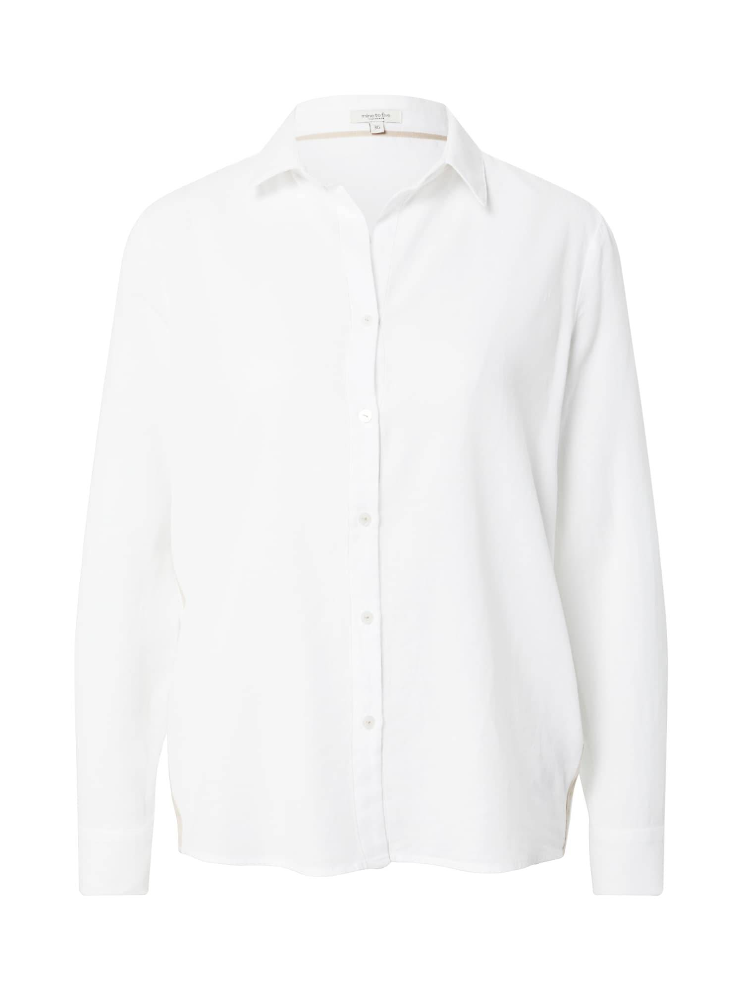 MINE TO FIVE Chemisier  - Blanc - Taille: 40 - female