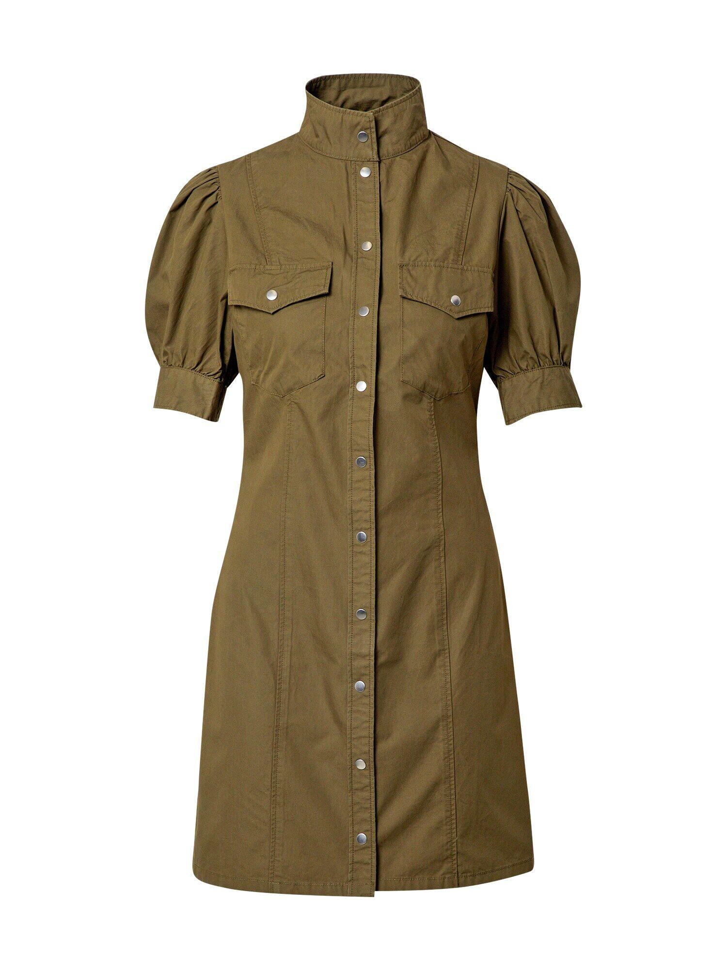 The Kooples Robe  - Vert - Taille: 3 - female
