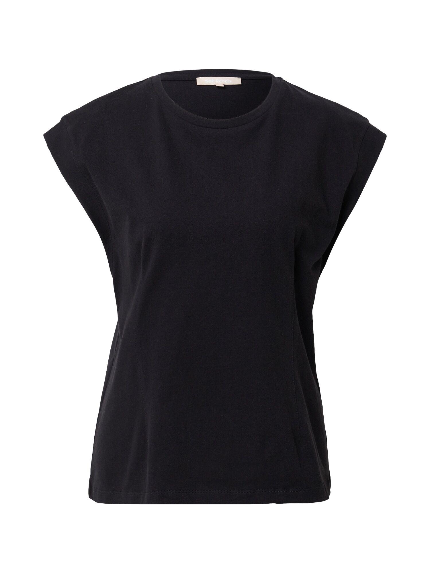 Soft Rebels T-shirt 'Winona'  - Noir - Taille: XL - female