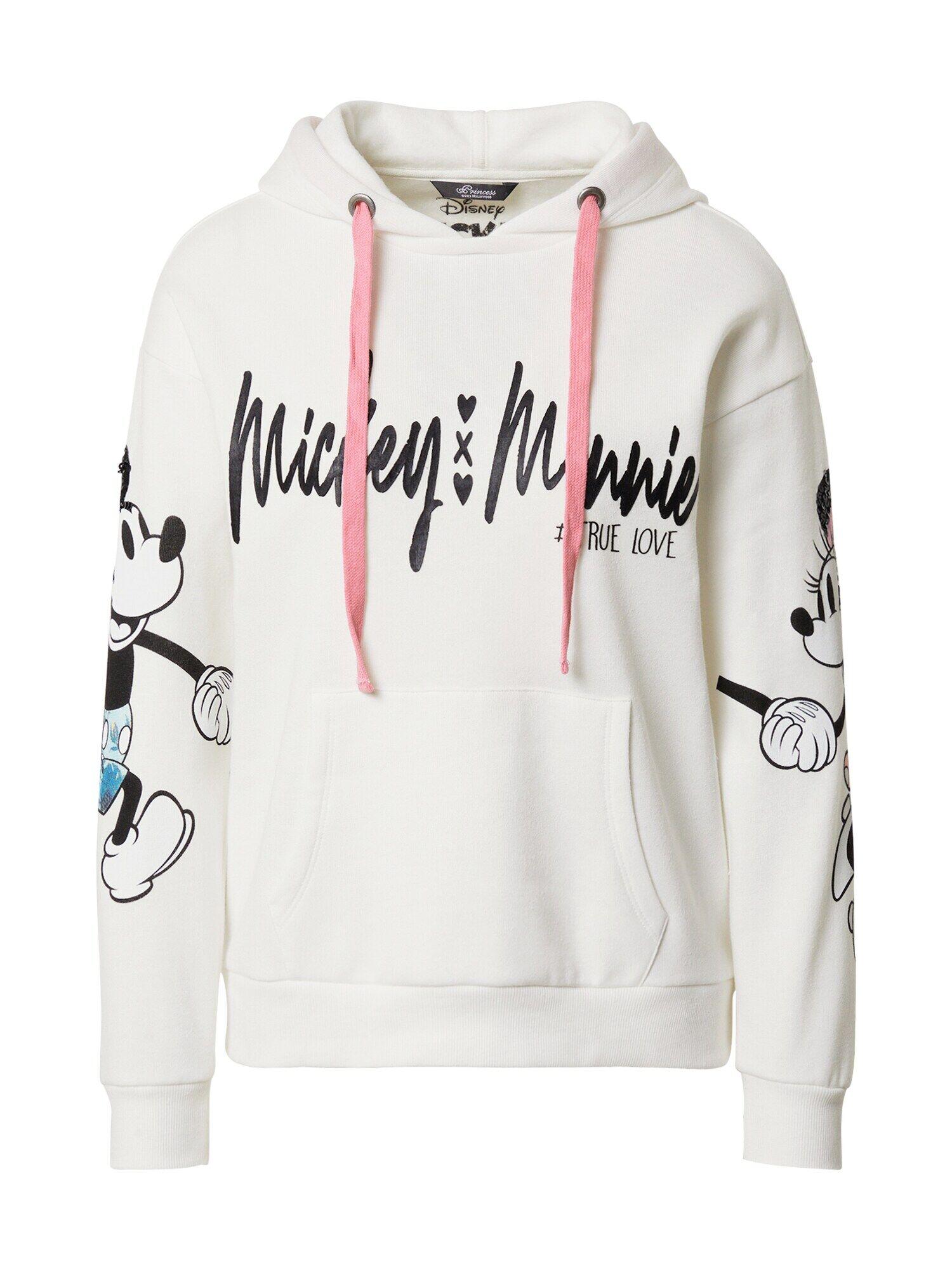 Princess Sweat-shirt 'Mickey & Minnie'  - Blanc - Taille: M - female