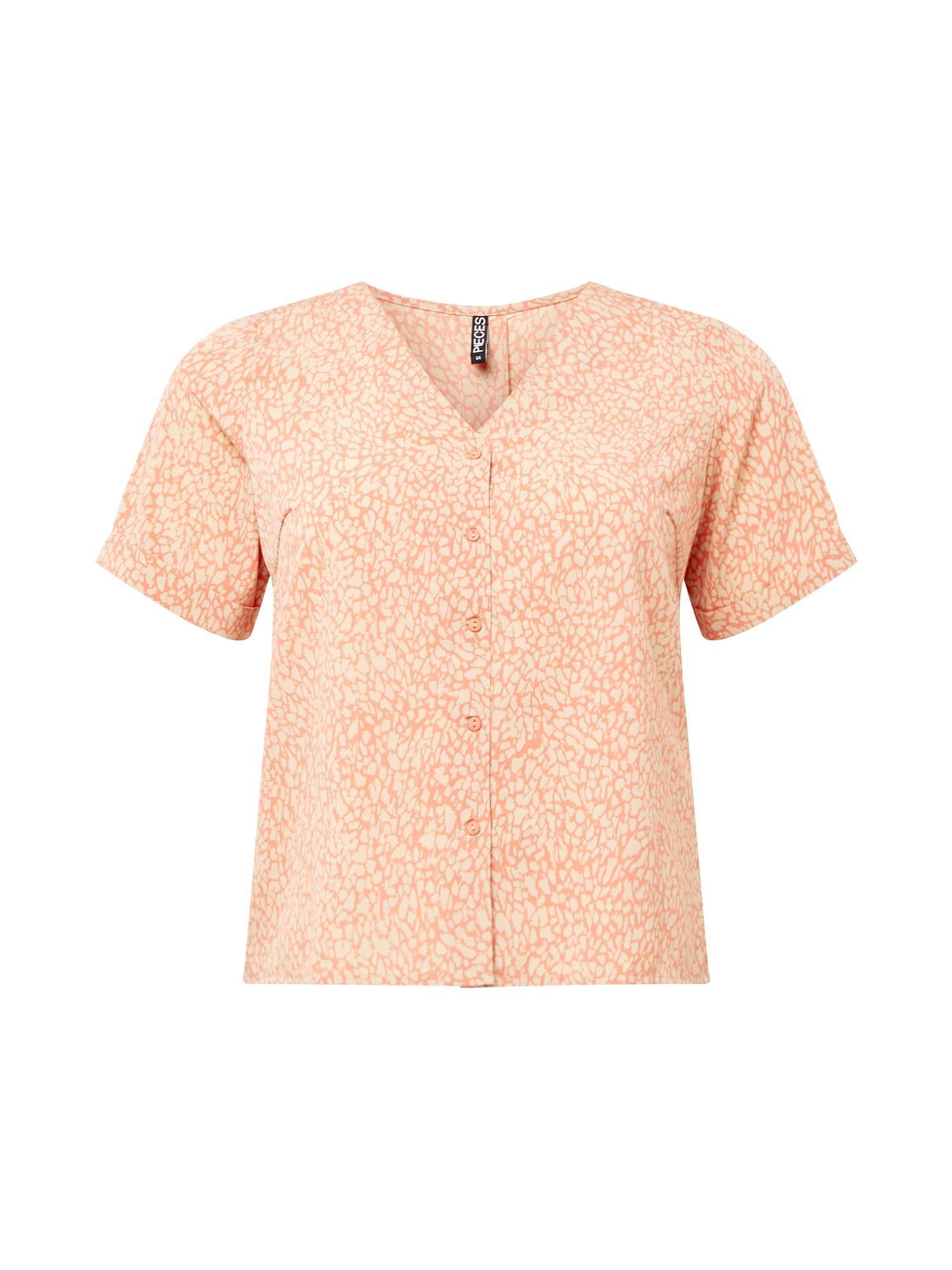 PIECES (Curve) Chemisier 'GILBERTA'  - Orange - Taille: 52 - female