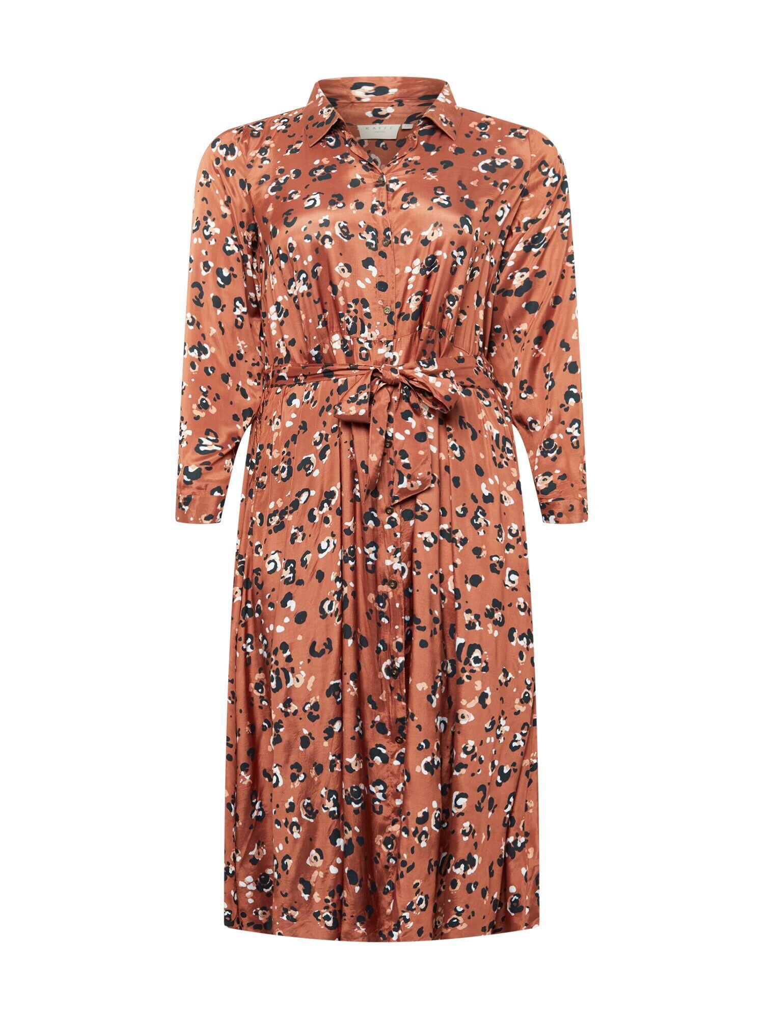 KAFFE CURVE Robe-chemise 'Miliany'  - Marron - Taille: 46 - female