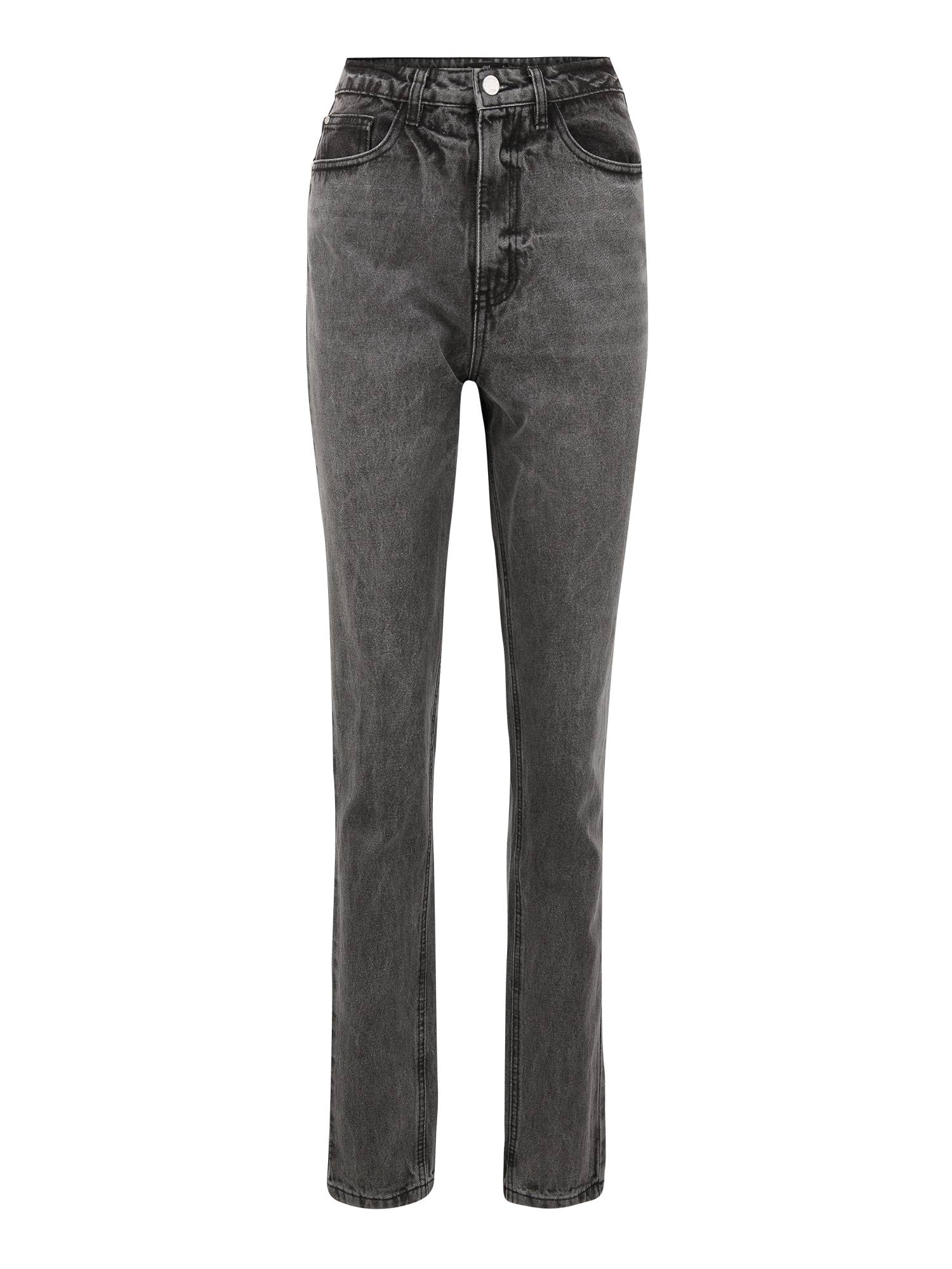 Missguided Tall Jean 'RIOT'  - Gris - Taille: 4 - female