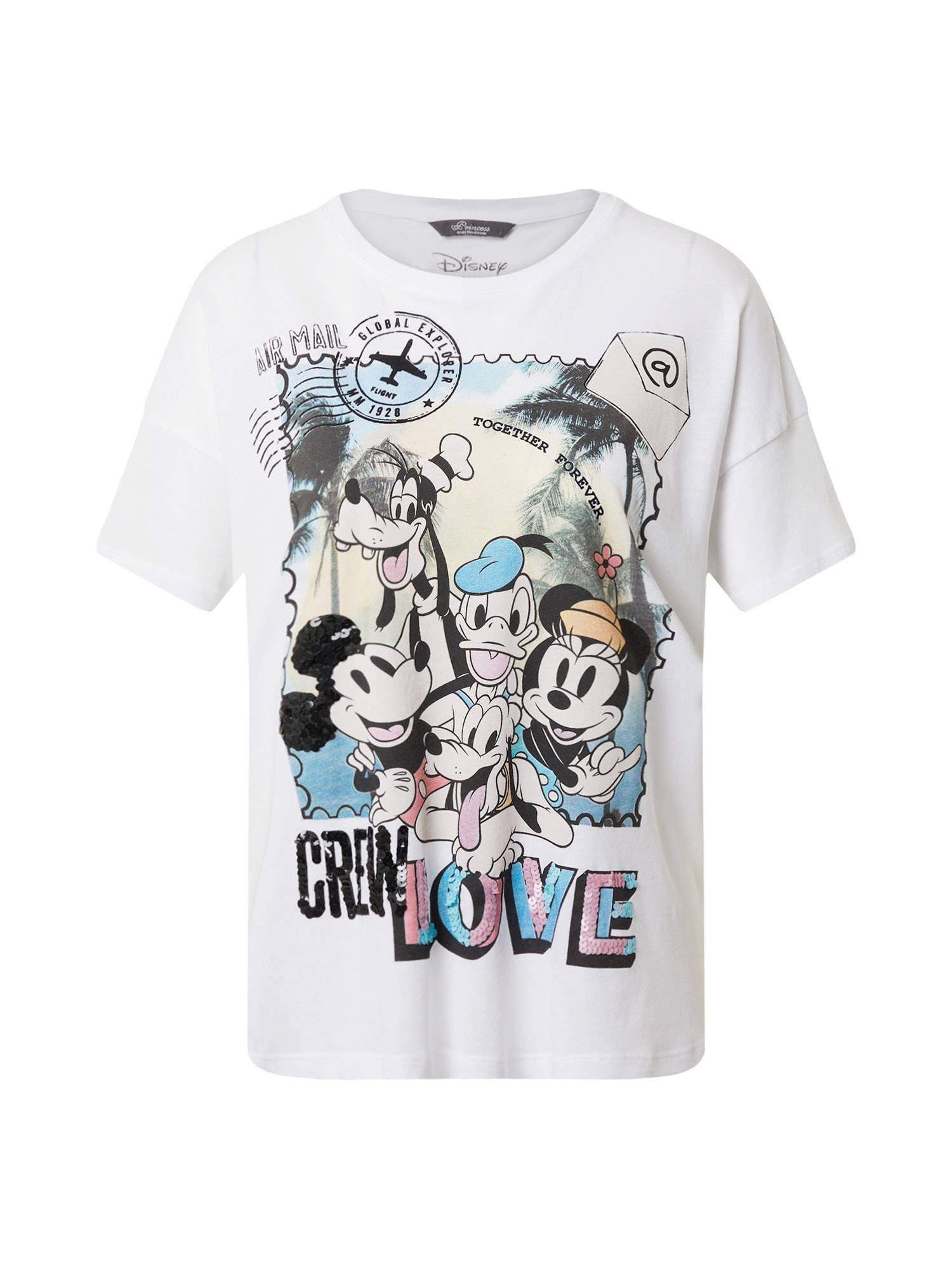 Princess T-shirt 'Disney Crew Love'  - Blanc - Taille: 42 - female