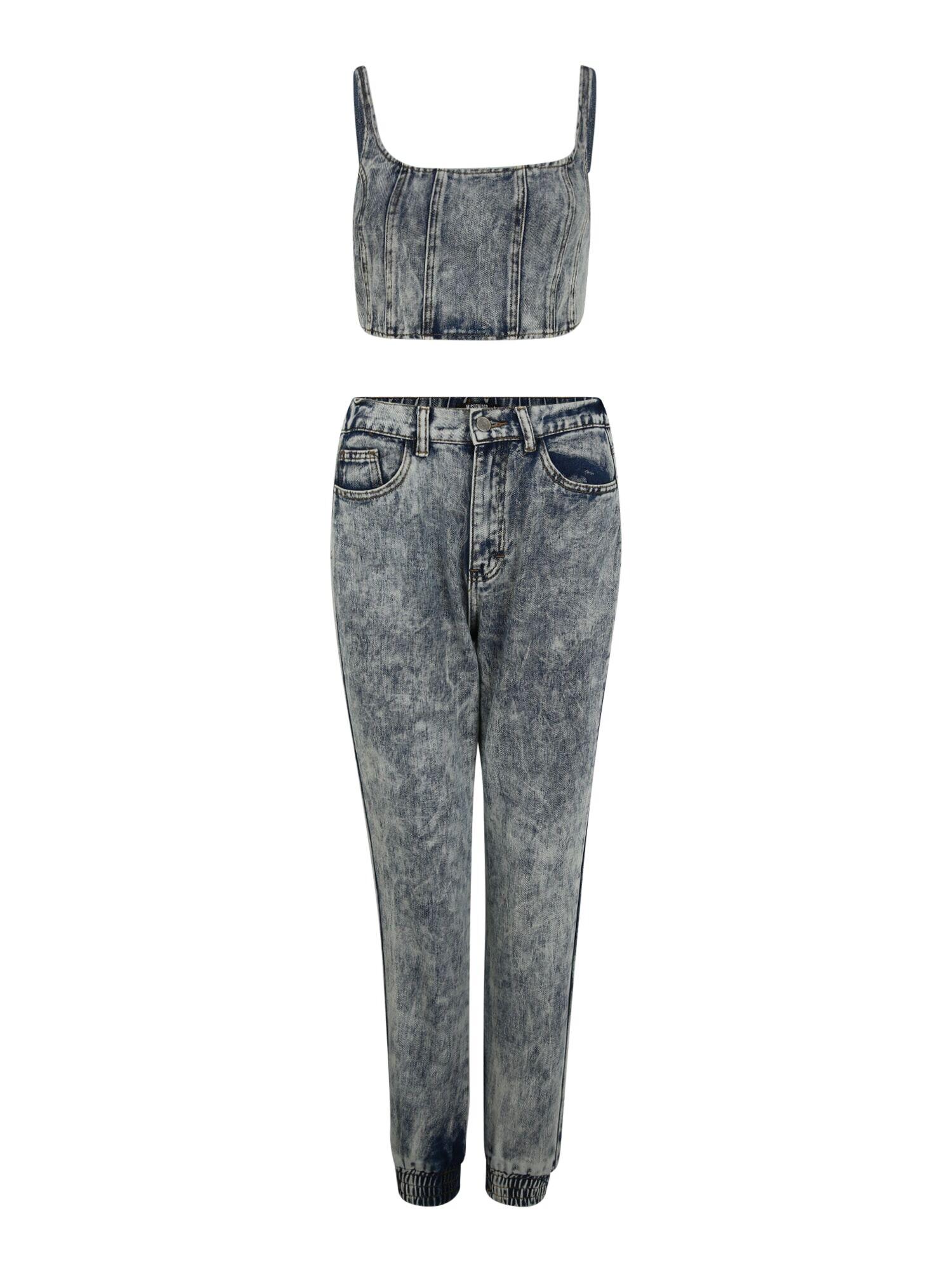 Missguided Petite Jean  - Bleu - Taille: 14 - female