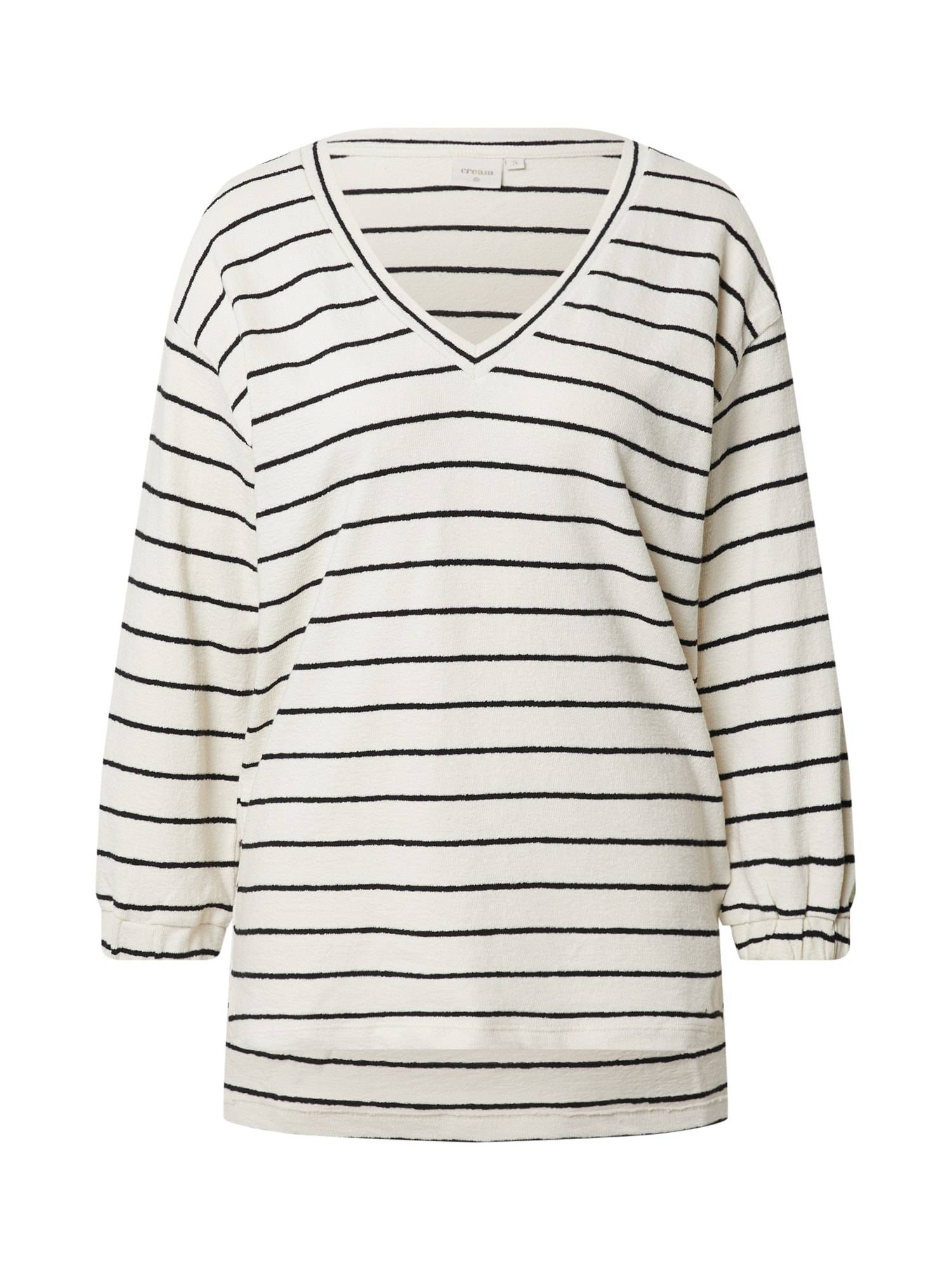 Cream T-shirt 'Krystala'  - Blanc - Taille: XS - female