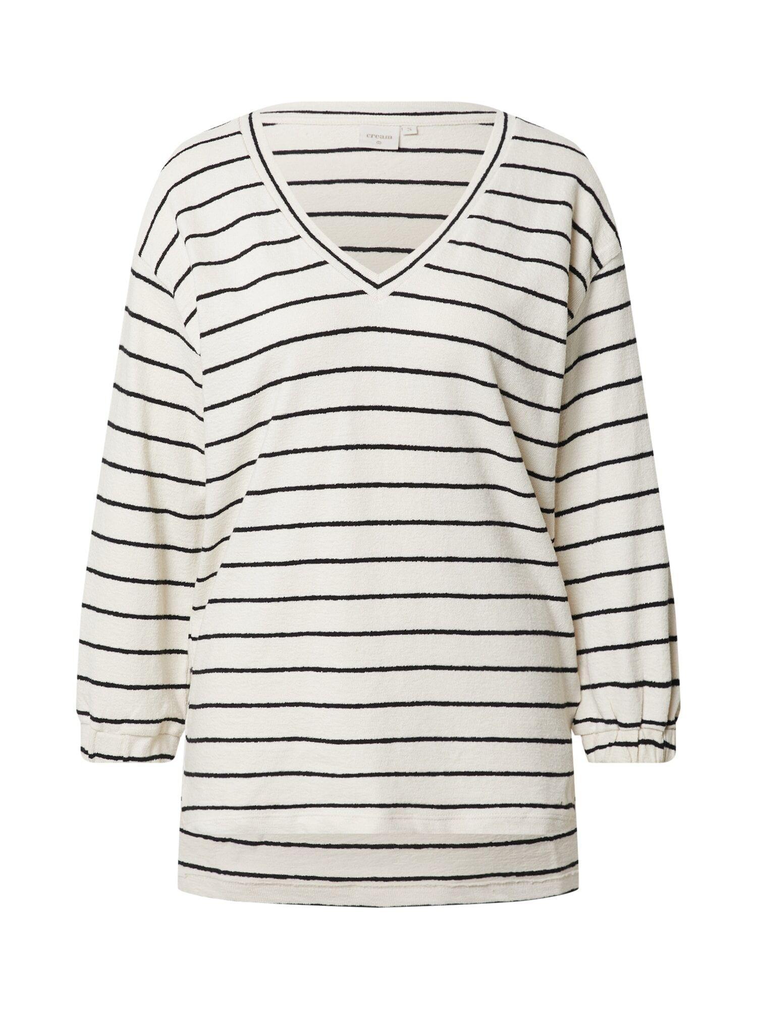 Cream T-shirt 'Krystala'  - Blanc - Taille: S - female
