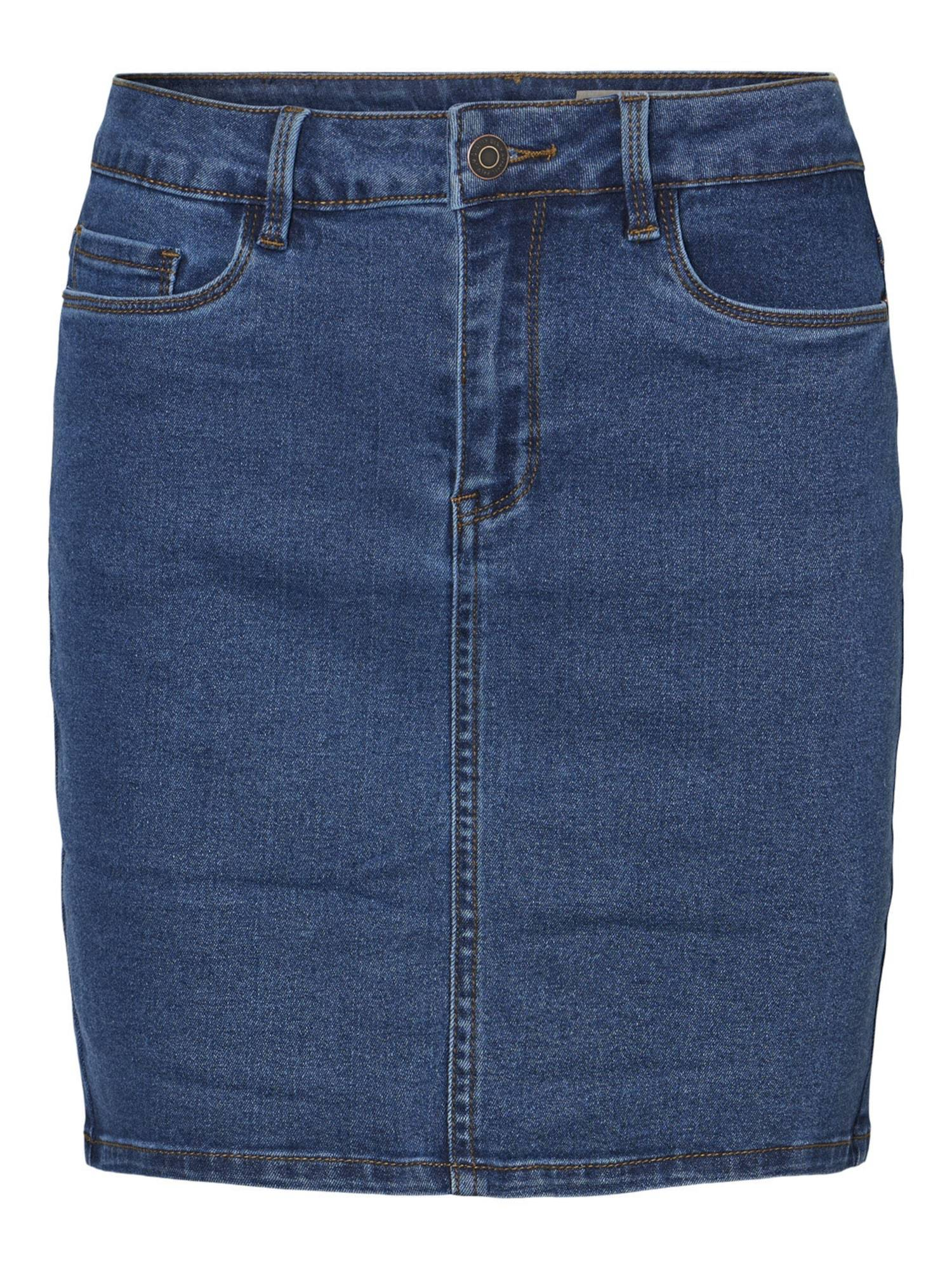 VERO MODA Jupe 'Hot Seven'  - Bleu - Taille: L - female
