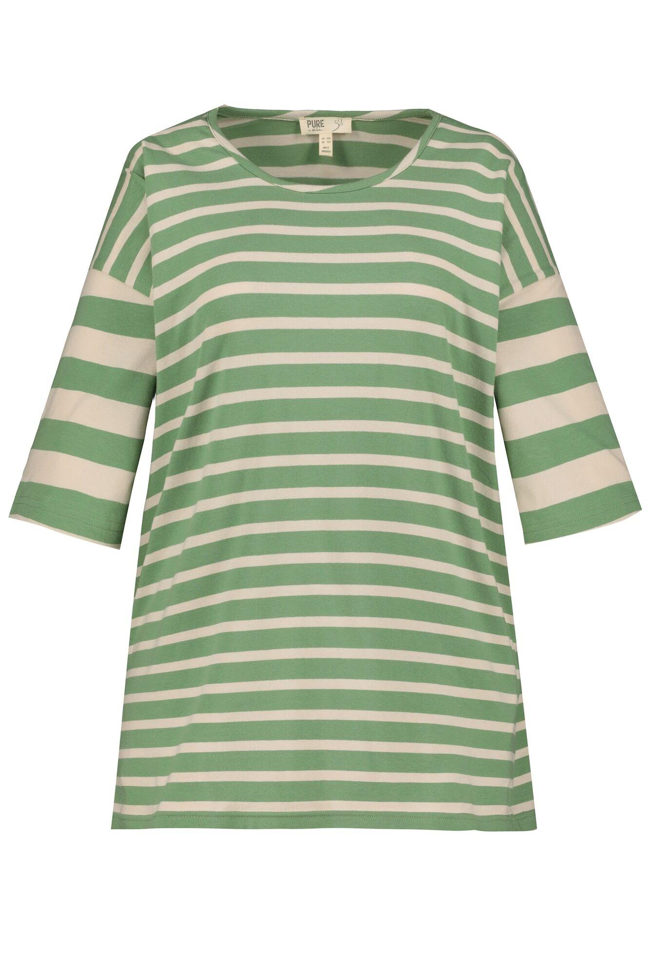 Ulla Popken T-shirt  - Beige, Vert - Taille: XXXL-4XL - female