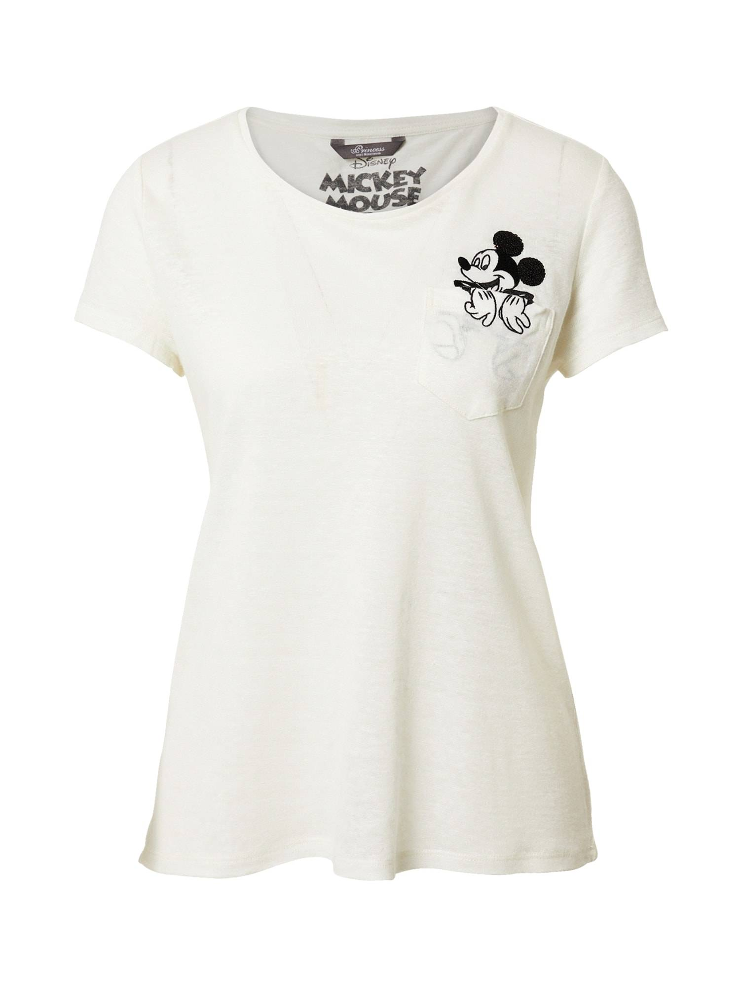 Princess T-shirt 'Mickey'  - Blanc - Taille: 38 - female