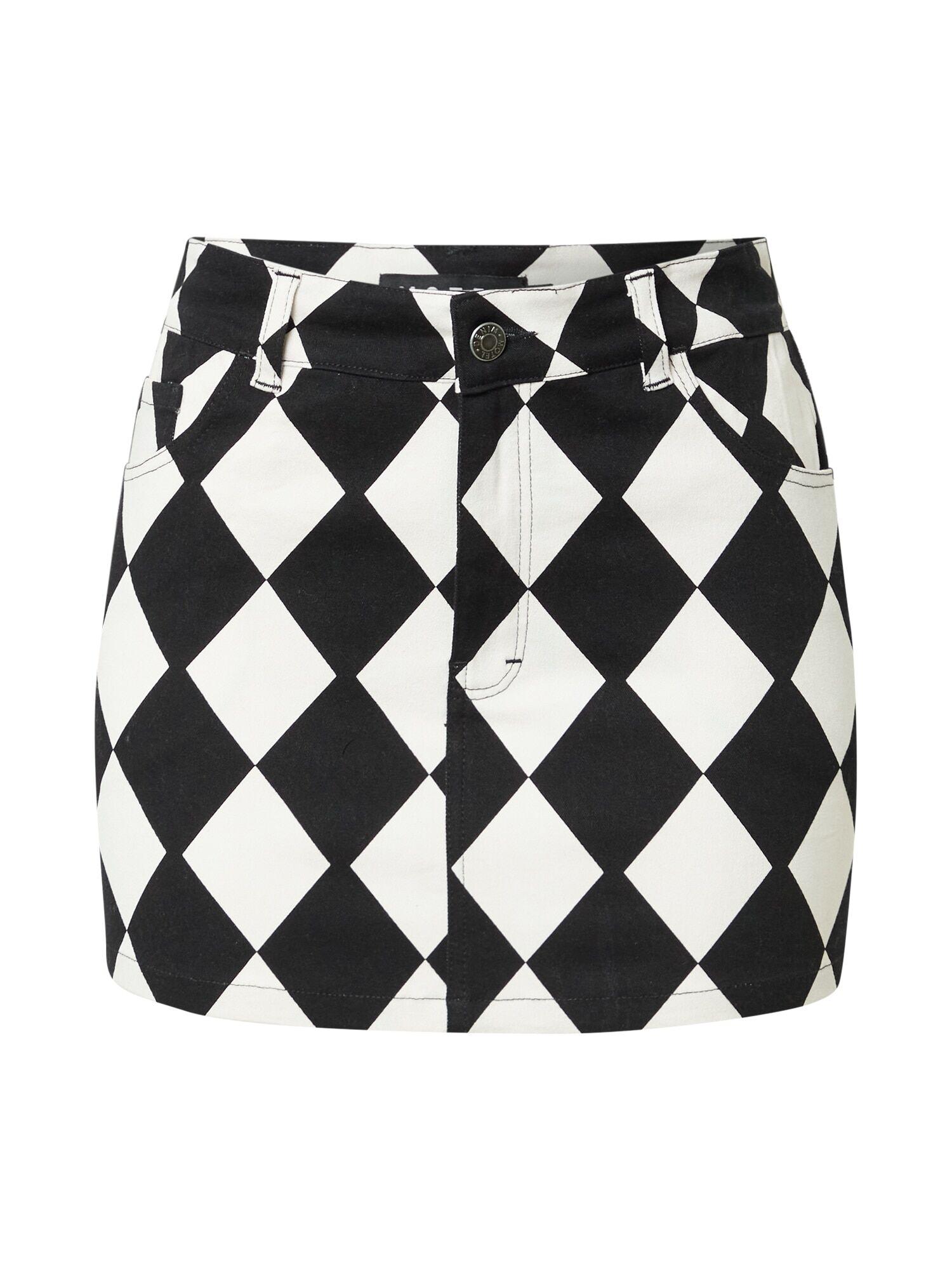Motel Jupe 'Micro Broomy'  - Noir, Blanc - Taille: XL - female