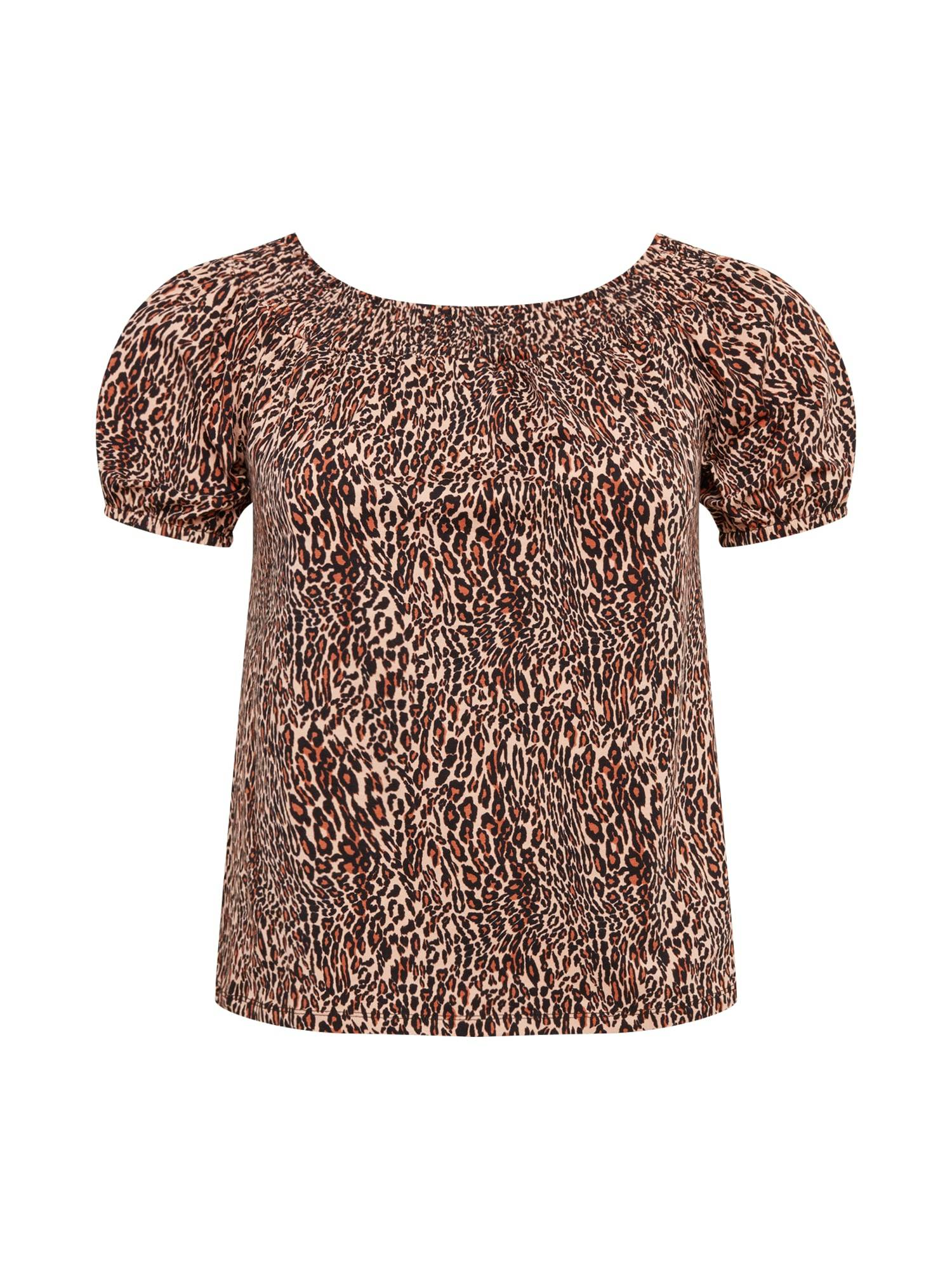 Dorothy Perkins Curve T-shirt  - Marron - Taille: 26 - female