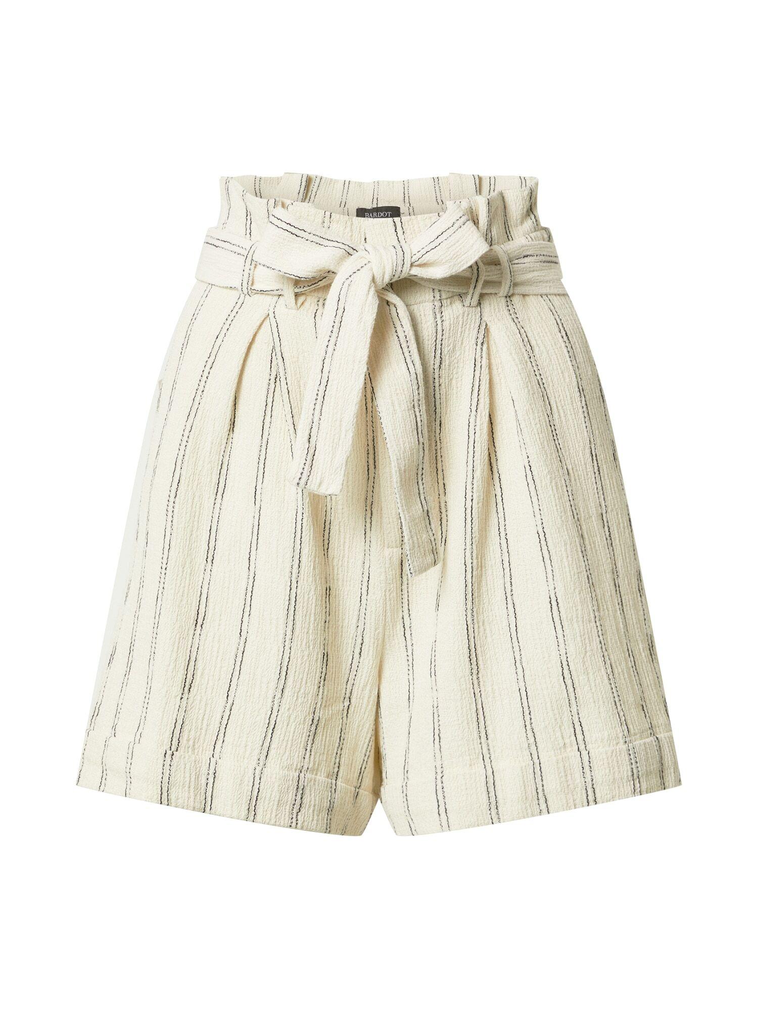Bardot Pantalon à pince  - Blanc - Taille: L - female