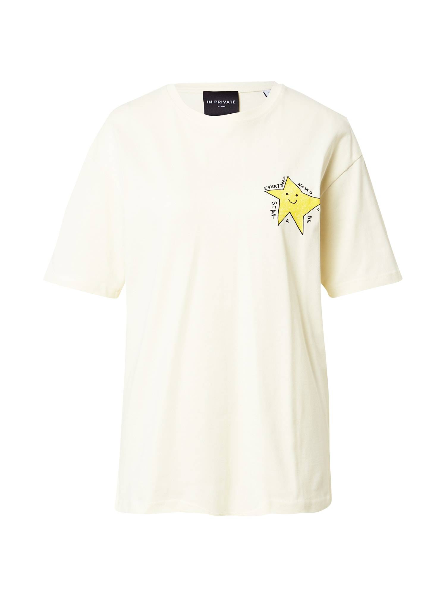 IN PRIVATE Studio T-shirt 'LONELY STAR'  - Blanc - Taille: S - female