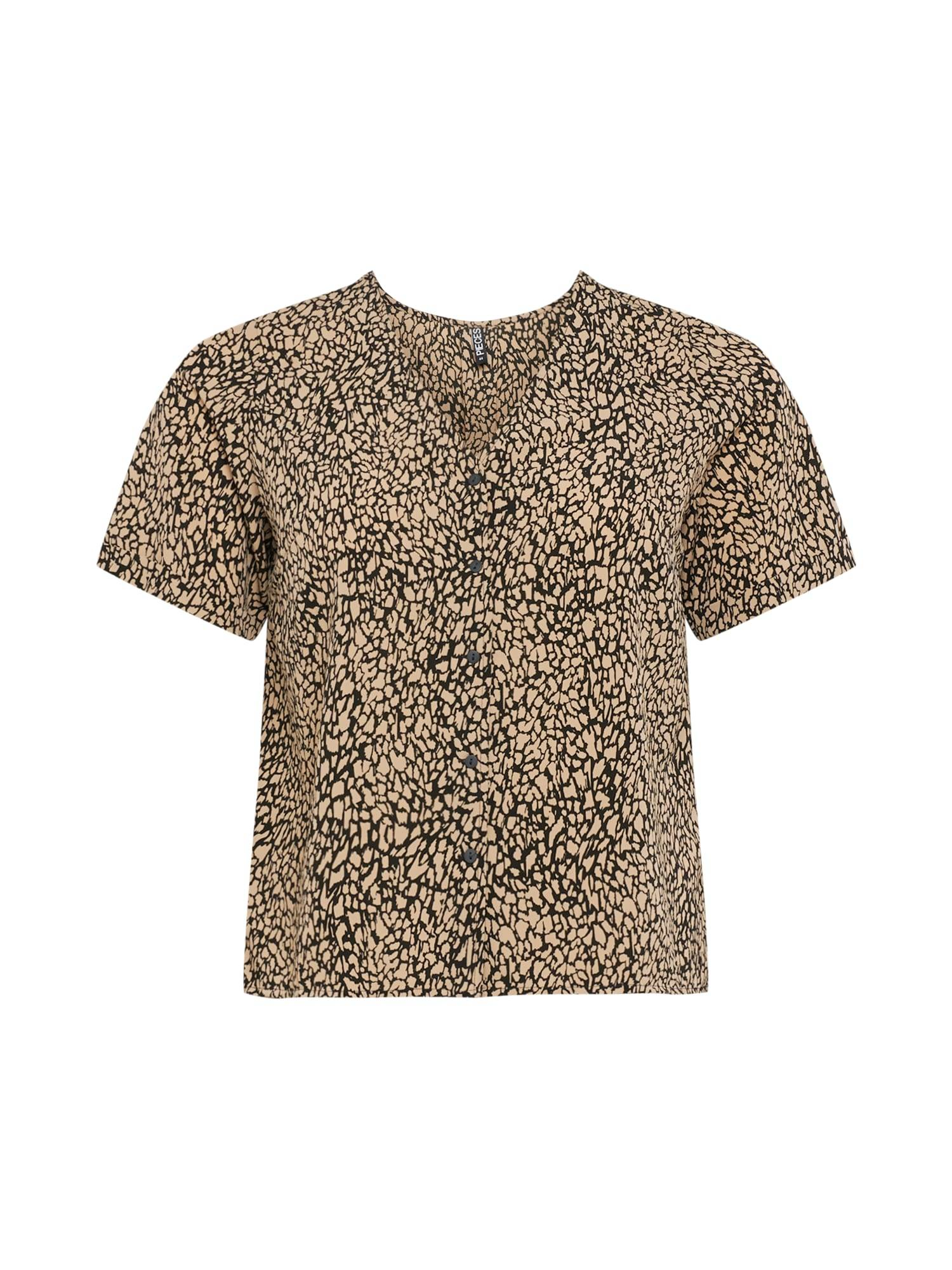 PIECES Curve T-shirt 'GILBERTA'  - Noir - Taille: 48 - female