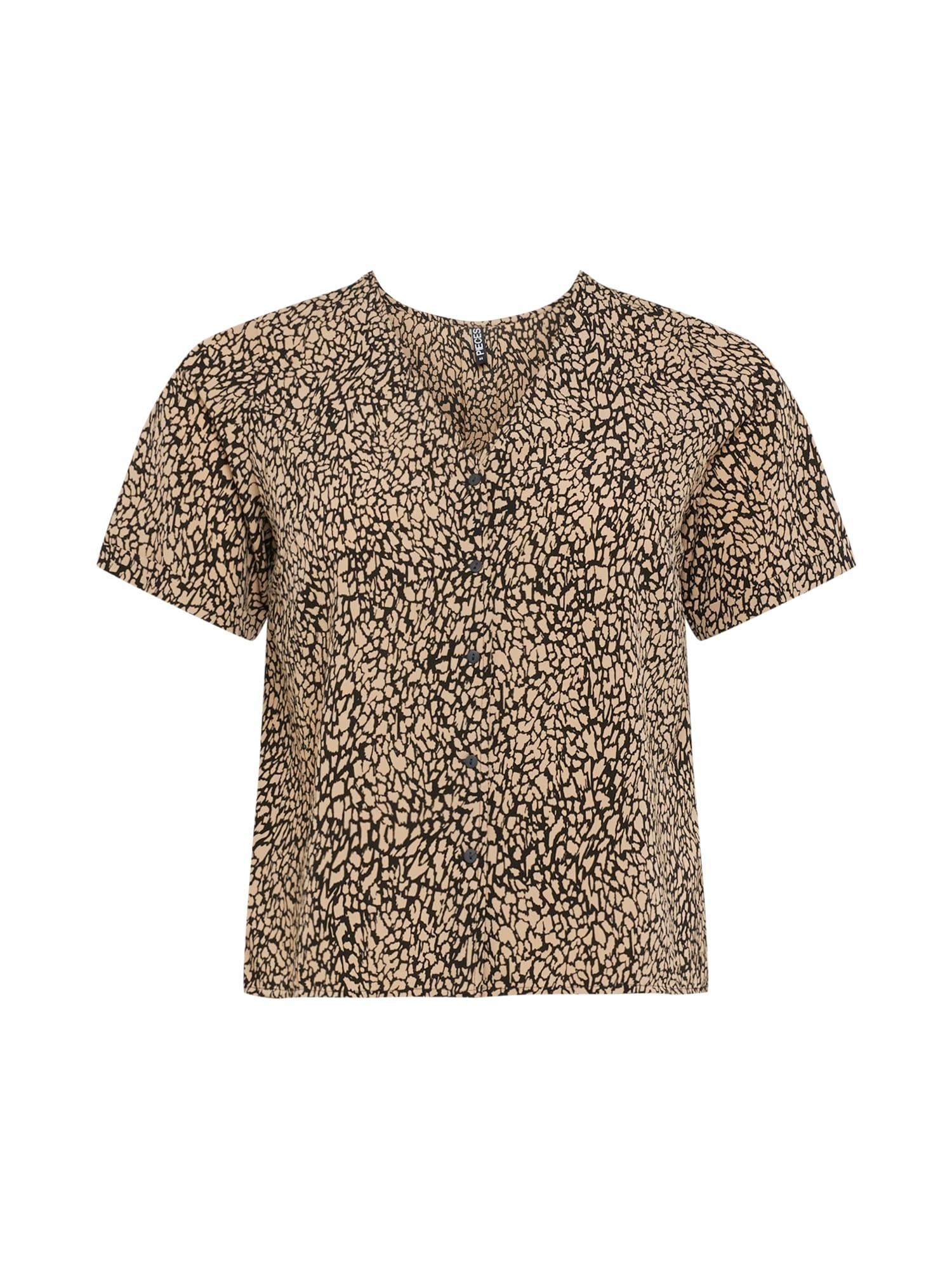 PIECES Curve T-shirt 'GILBERTA'  - Noir - Taille: 52 - female
