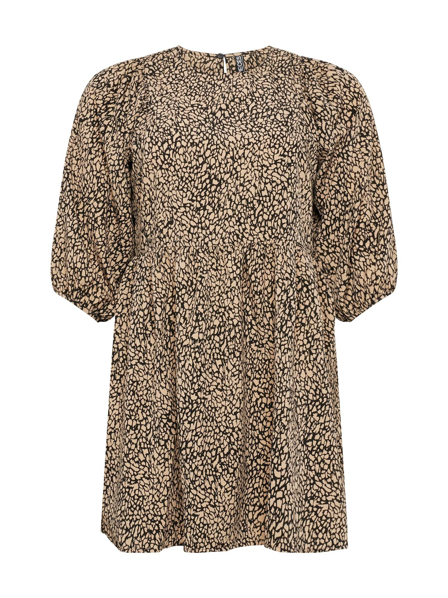 PIECES (Curve) Robe 'GILBERTA'  - Beige - Taille: 46 - female