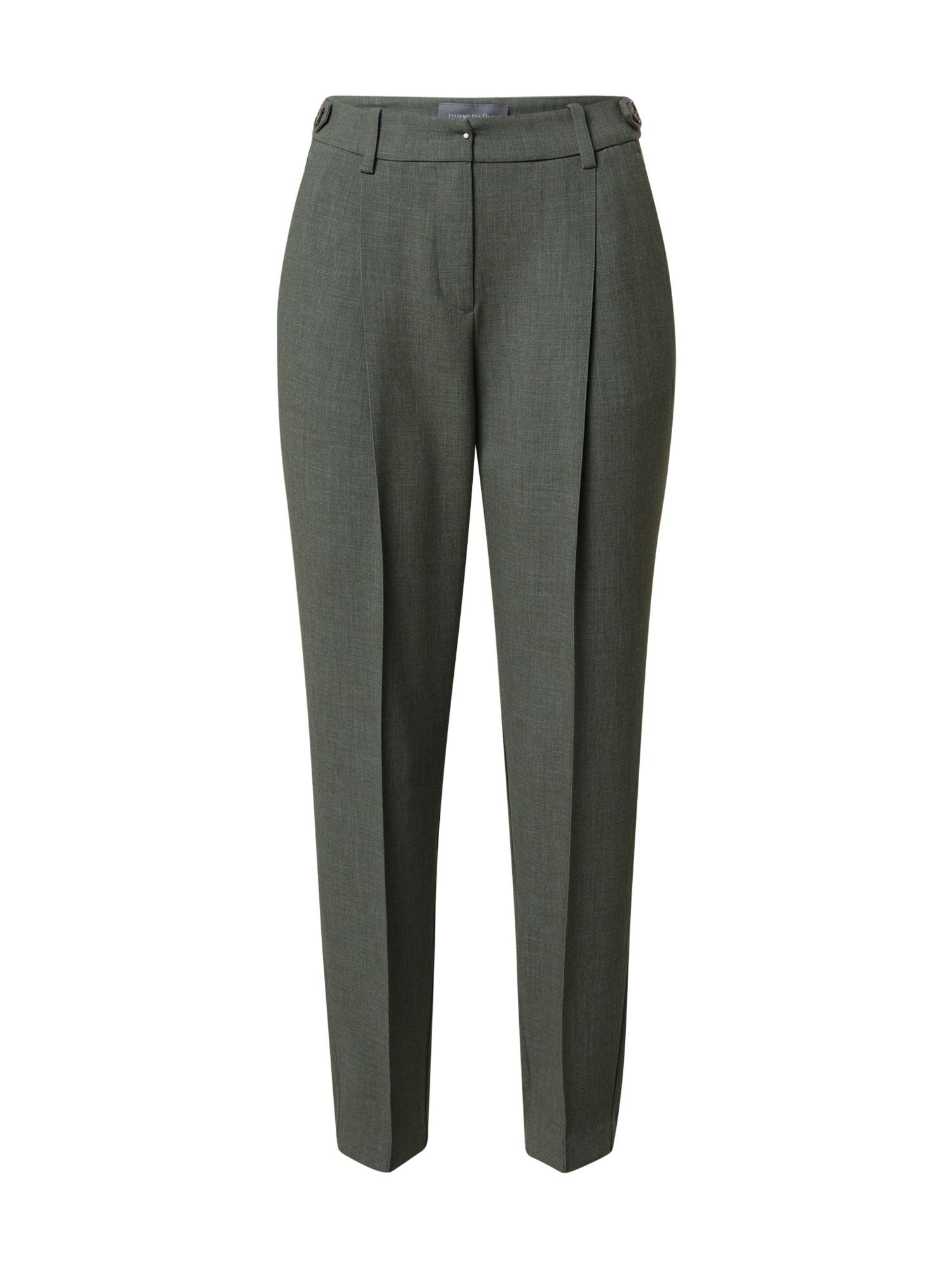 MINE TO FIVE Pantalon à pince  - Vert - Taille: 40 - female