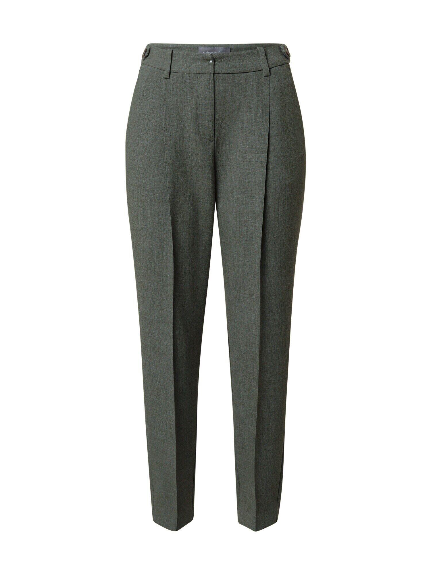MINE TO FIVE Pantalon à pince  - Vert - Taille: 38 - female