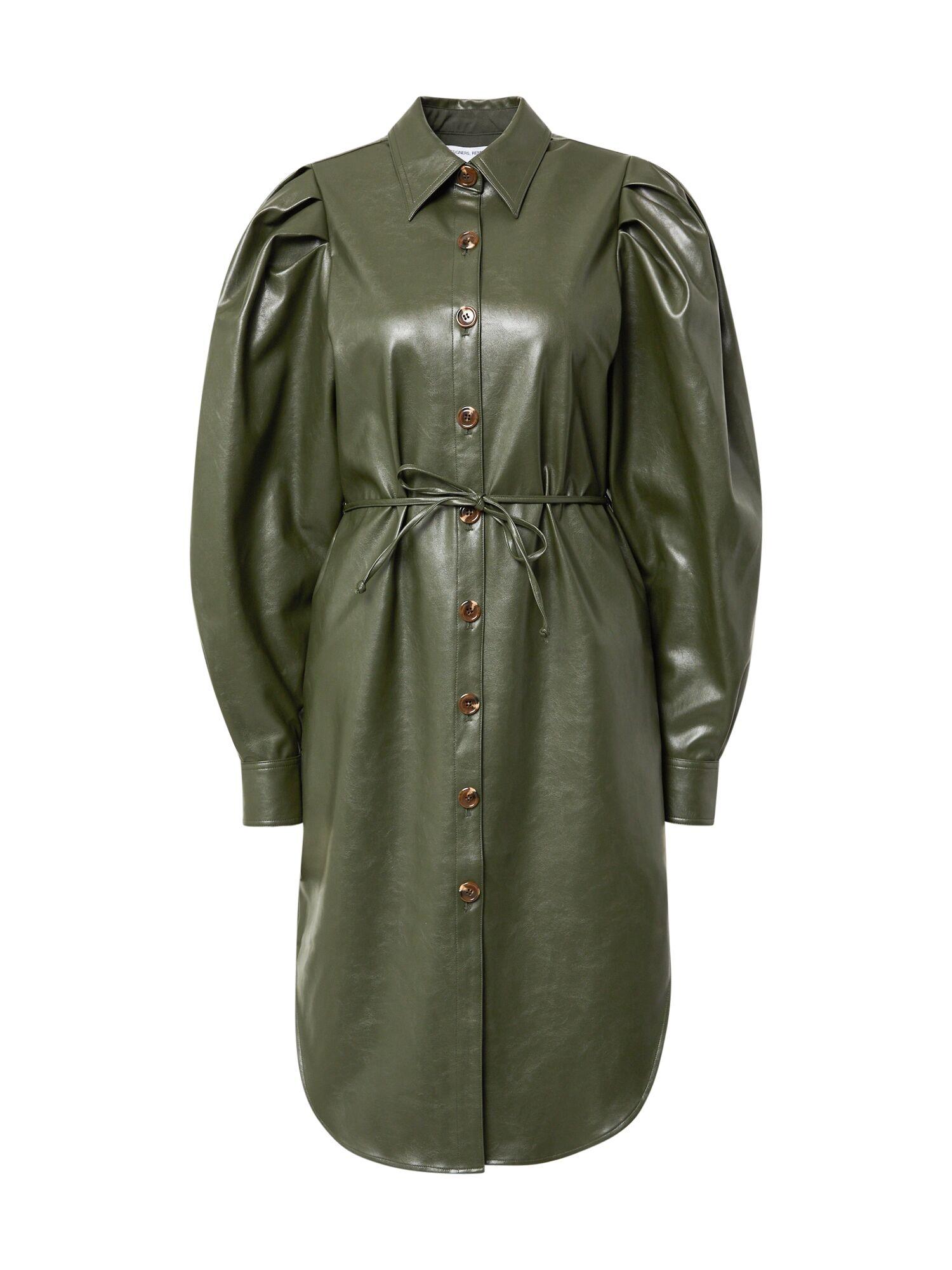 Designers Remix Robe-chemise 'Marie'  - Vert - Taille: 42 - female