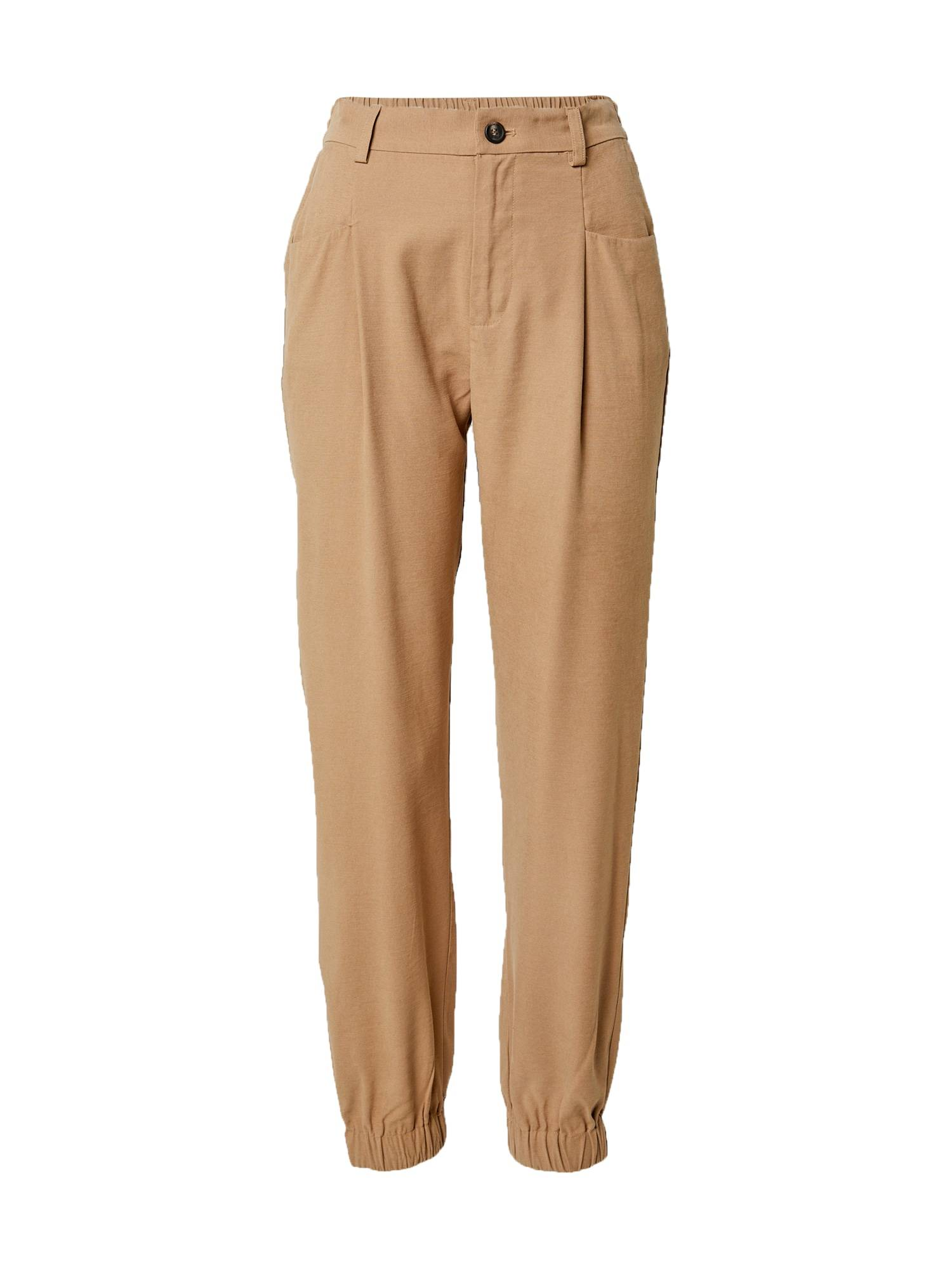 ONLY Pantalon à pince 'Emery'  - Marron - Taille: L - female