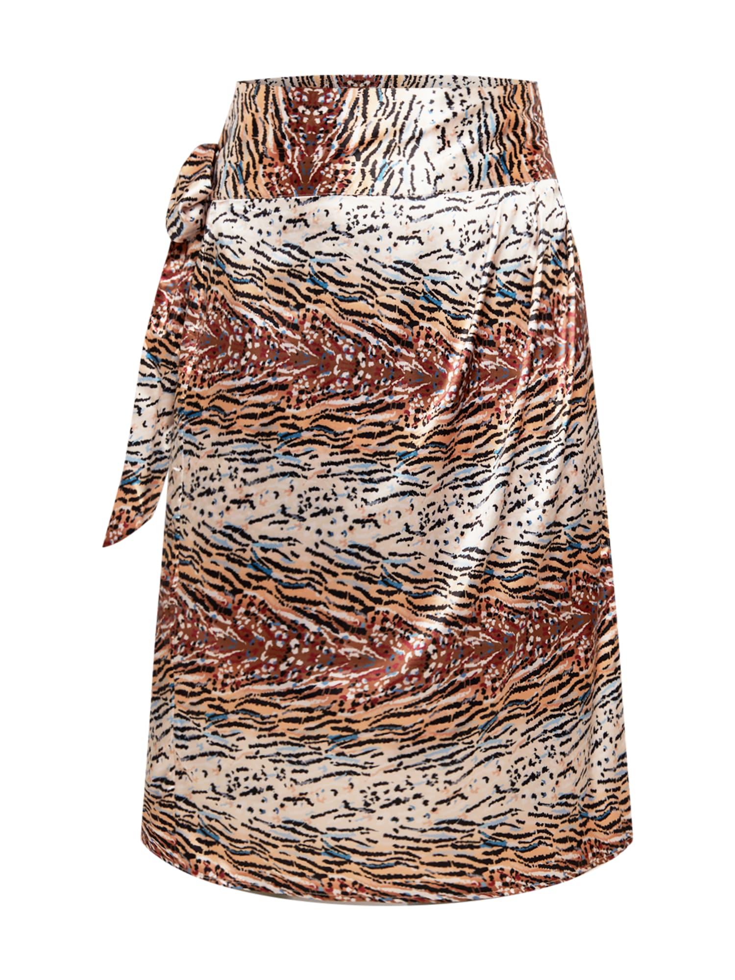 Chi Chi Curve Jupe 'Kemi'  - MéLange De Couleurs - Taille: 18 - female