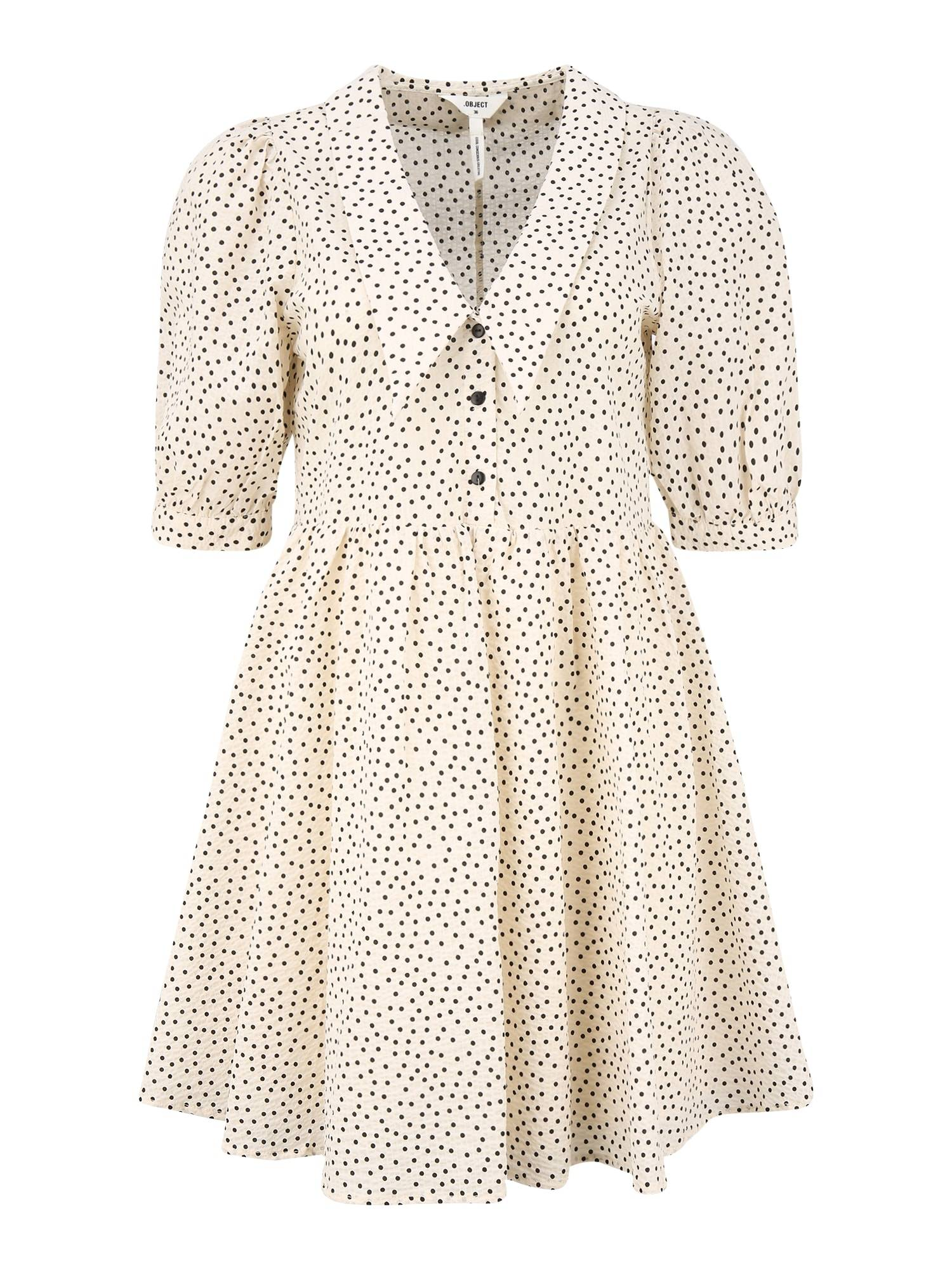 OBJECT Petite Robe 'NOUR'  - Beige - Taille: 40 - female