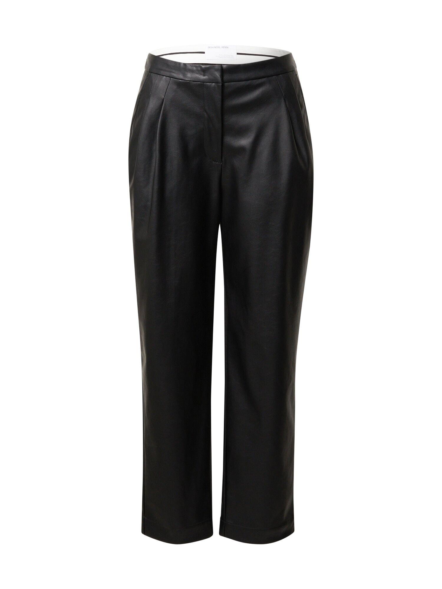 Designers Remix Pantalon à pince 'Marie'  - Noir - Taille: 40 - female