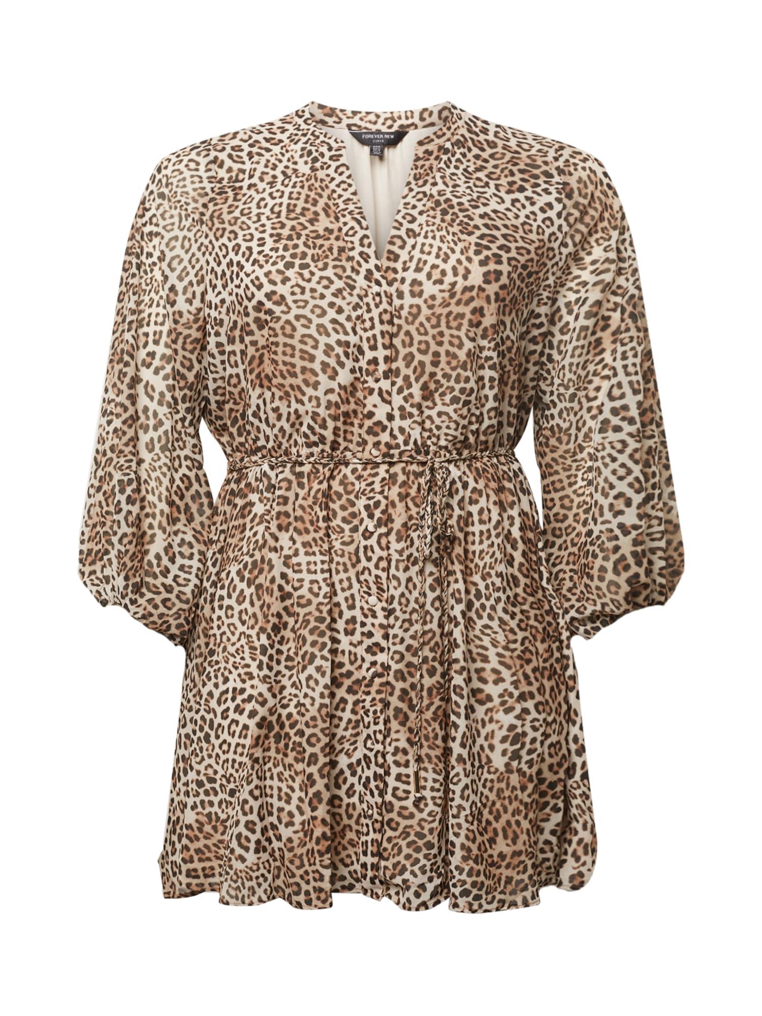 Forever New Curve Robe 'Harper'  - Marron - Taille: 22 - female