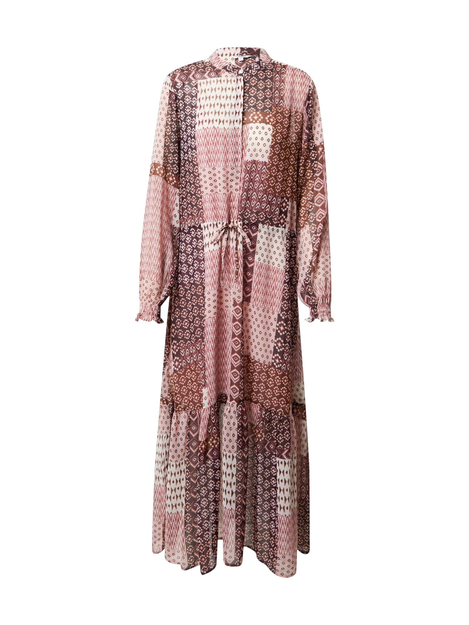 mbym Robe-chemise 'Diaz'  - Marron - Taille: M - female