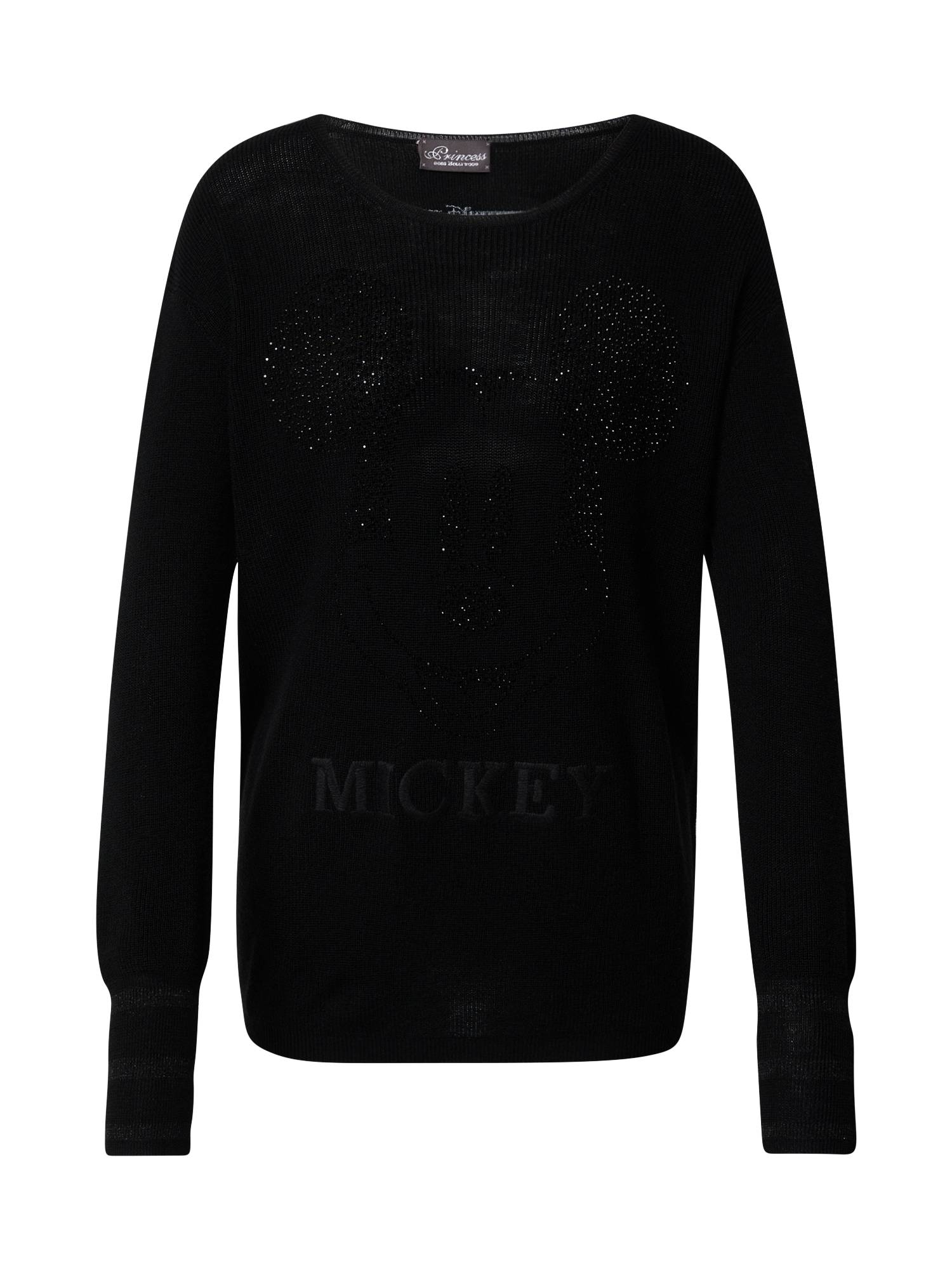 Princess Pull-over 'Mickey Deco'  - Noir - Taille: 34 - female