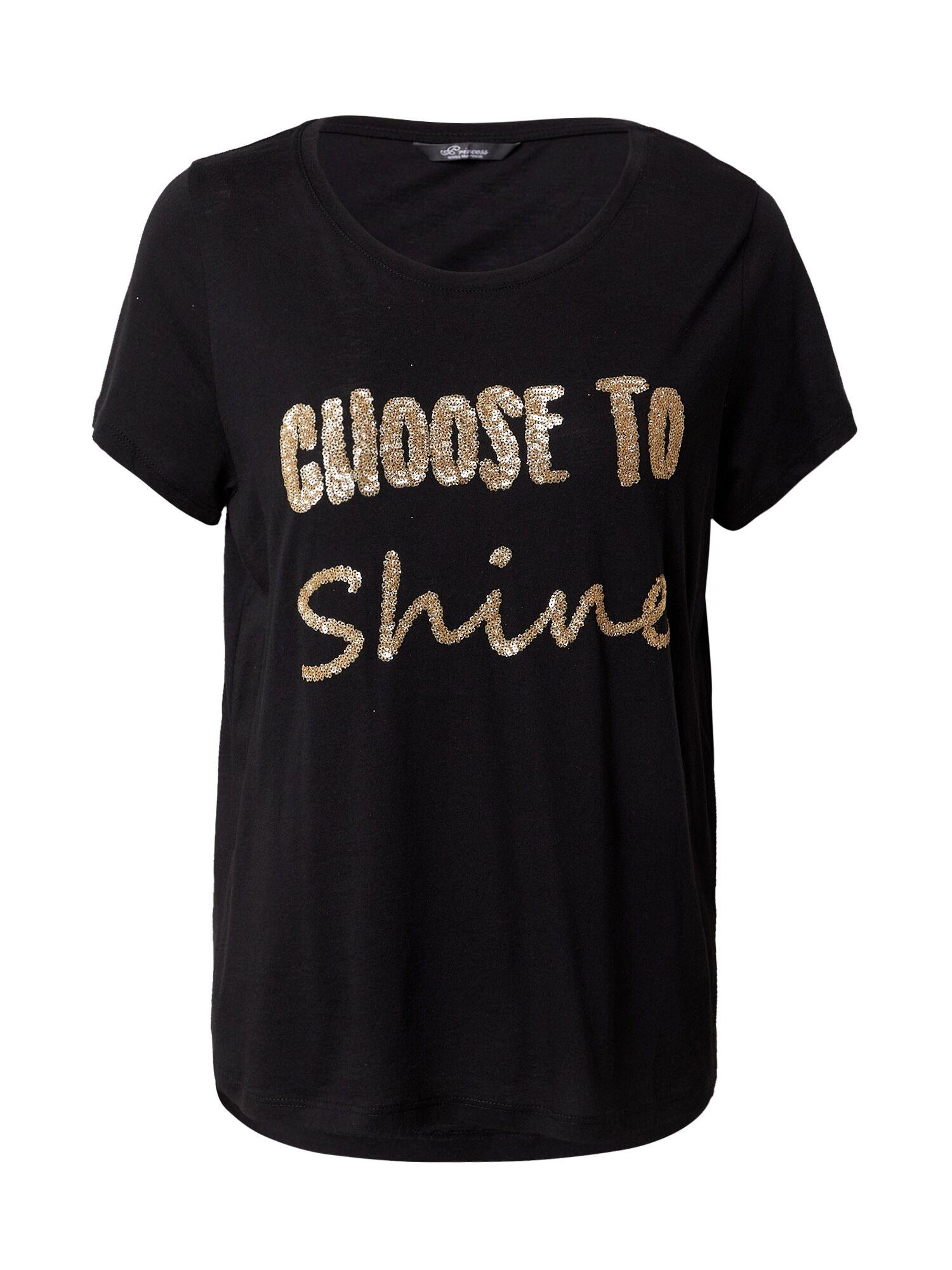 Princess T-shirt 'Shine'  - Noir - Taille: L - female