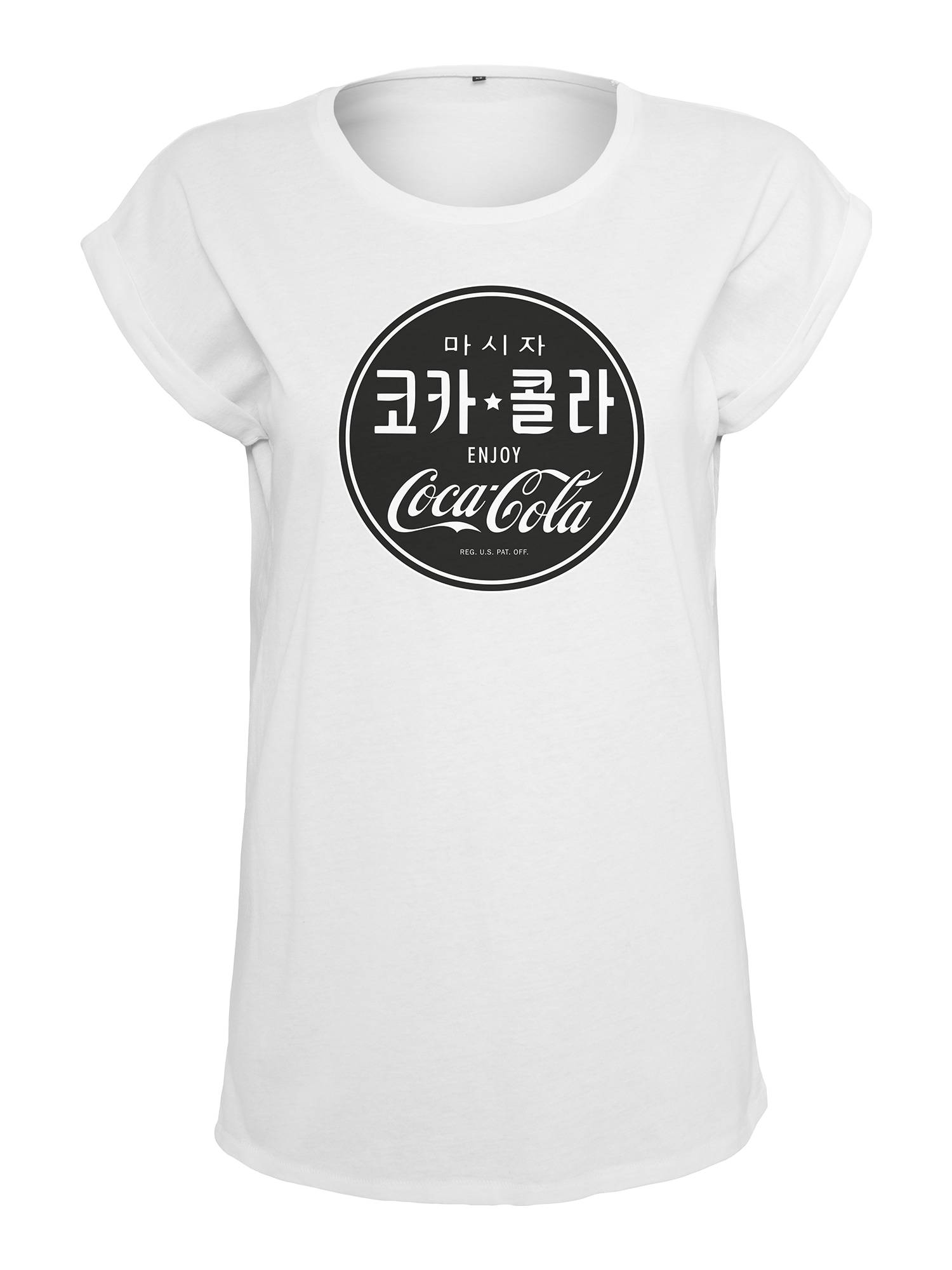 Merchcode T-shirt 'Coca Cola'  - Blanc - Taille: XS - female