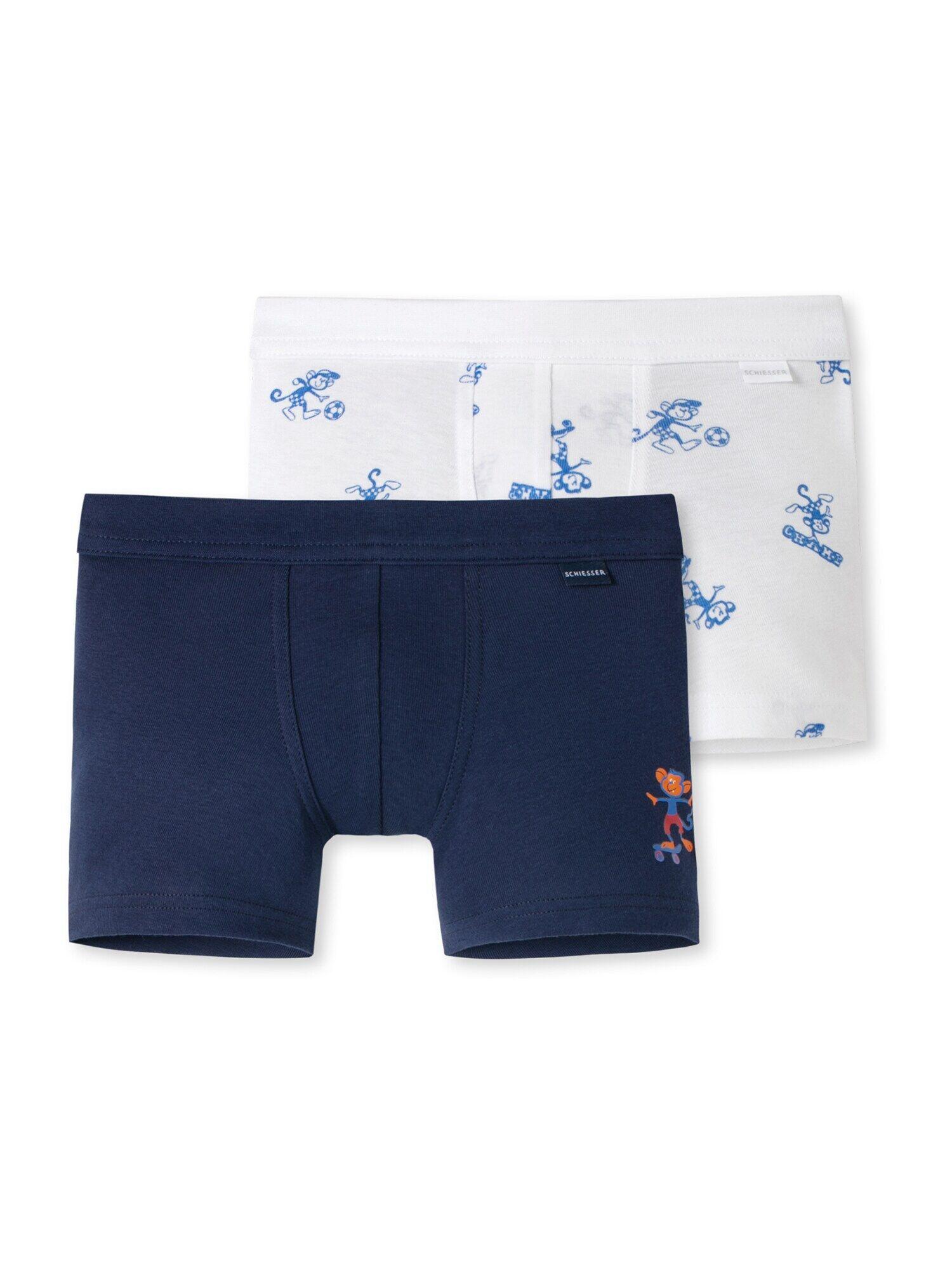 SCHIESSER Sous-vêtements ' 2er-Pack Friends 4 Life '  - Bleu, Blanc - Taille: 92 - boy
