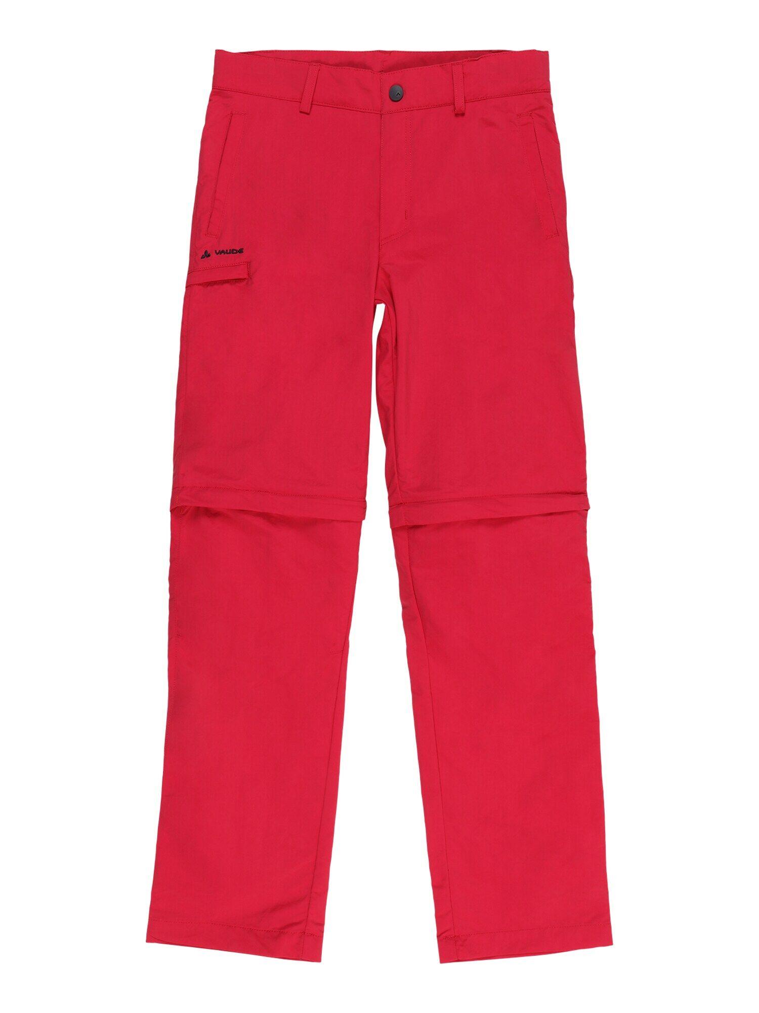 VAUDE Pantalon d'extérieur 'Detective'  - Rouge - Taille: 158-164 - boy