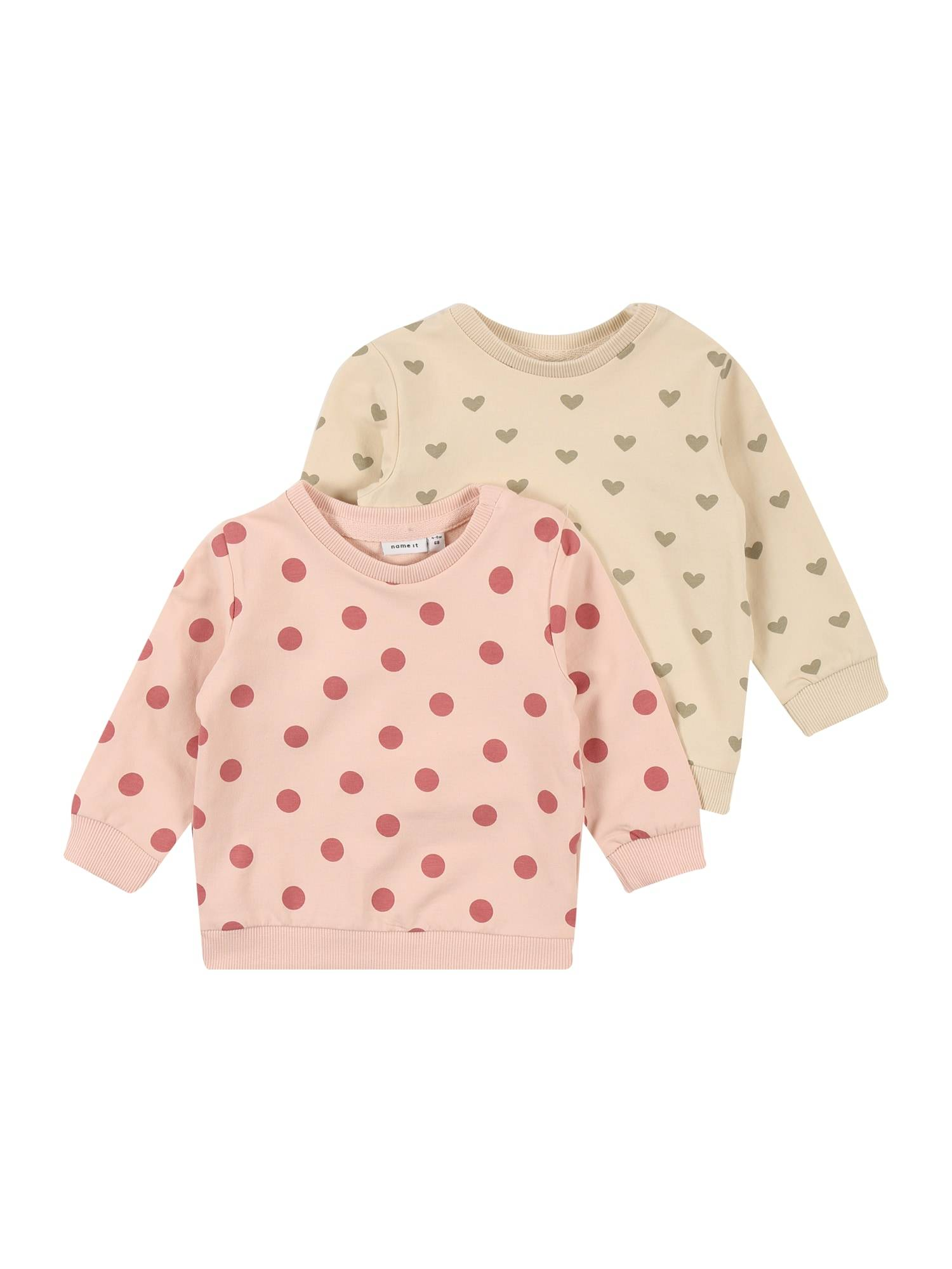 NAME IT Sweat-shirt 'TINNE'  - Rose, Beige - Taille: 80 - kids