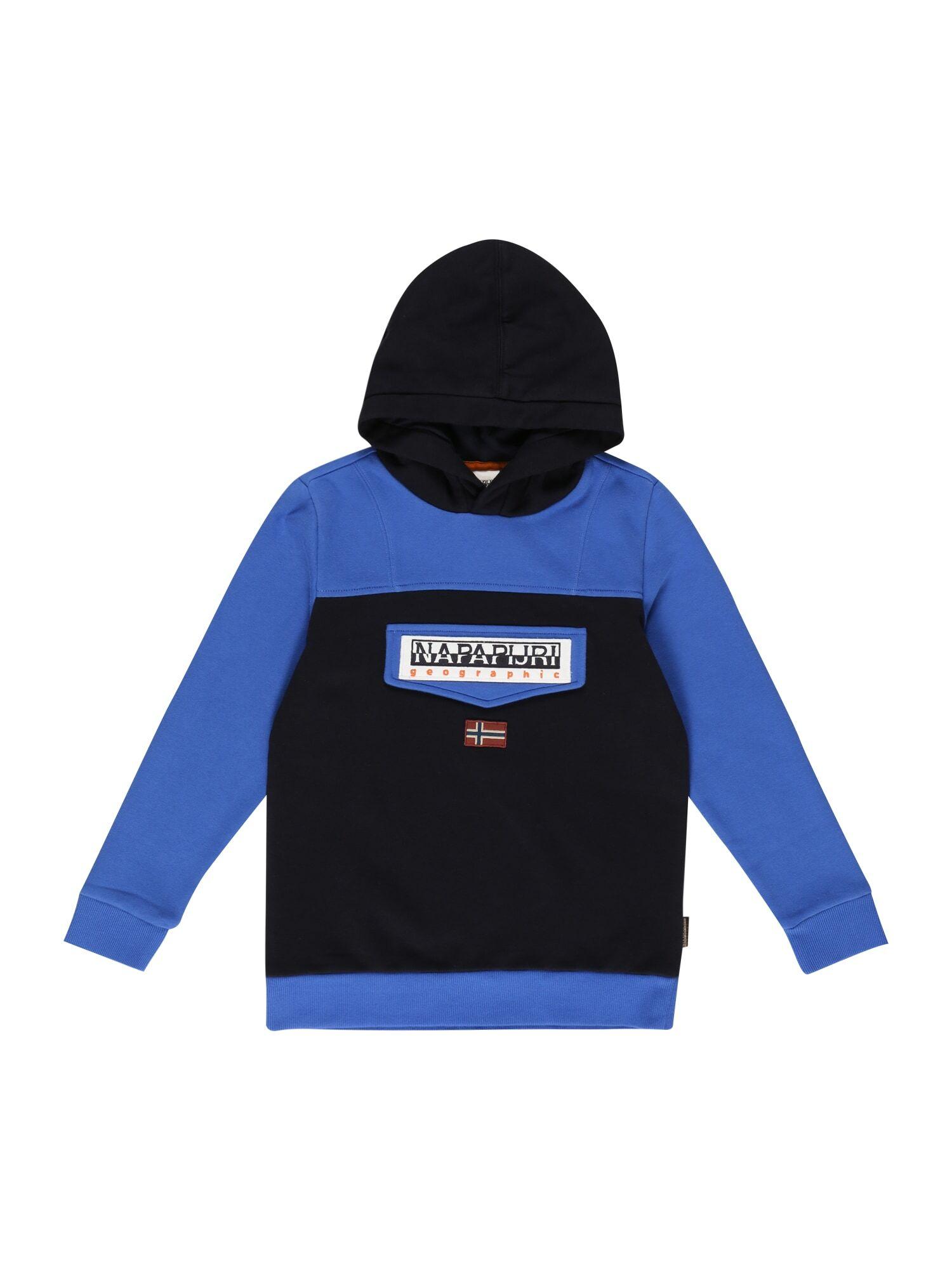 NAPAPIJRI Sweat-shirt 'BURGEE'  - Bleu - Taille: 10 - girl