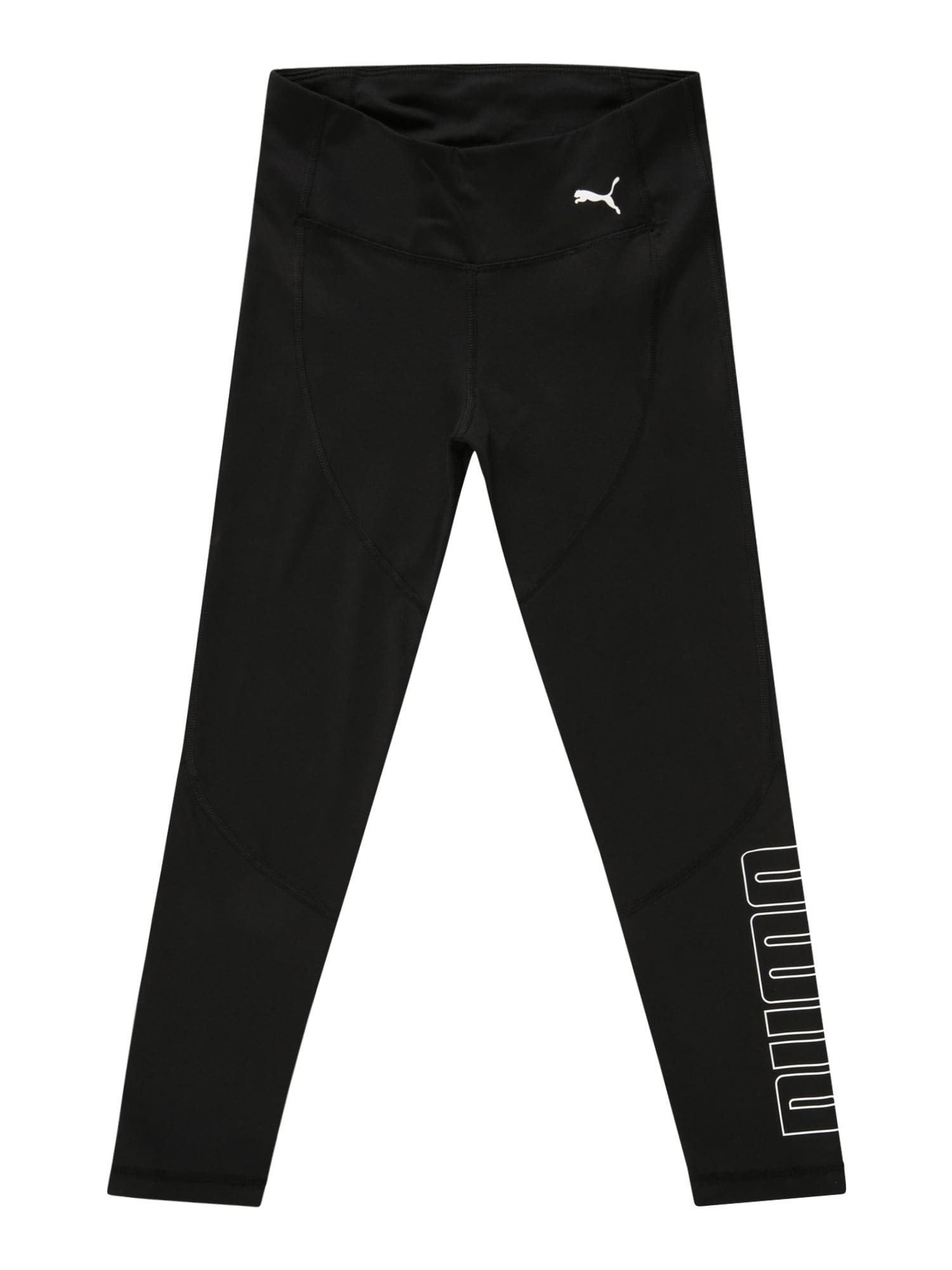 PUMA Leggings 'Runtrain 78'  - Noir - Taille: 176 - girl