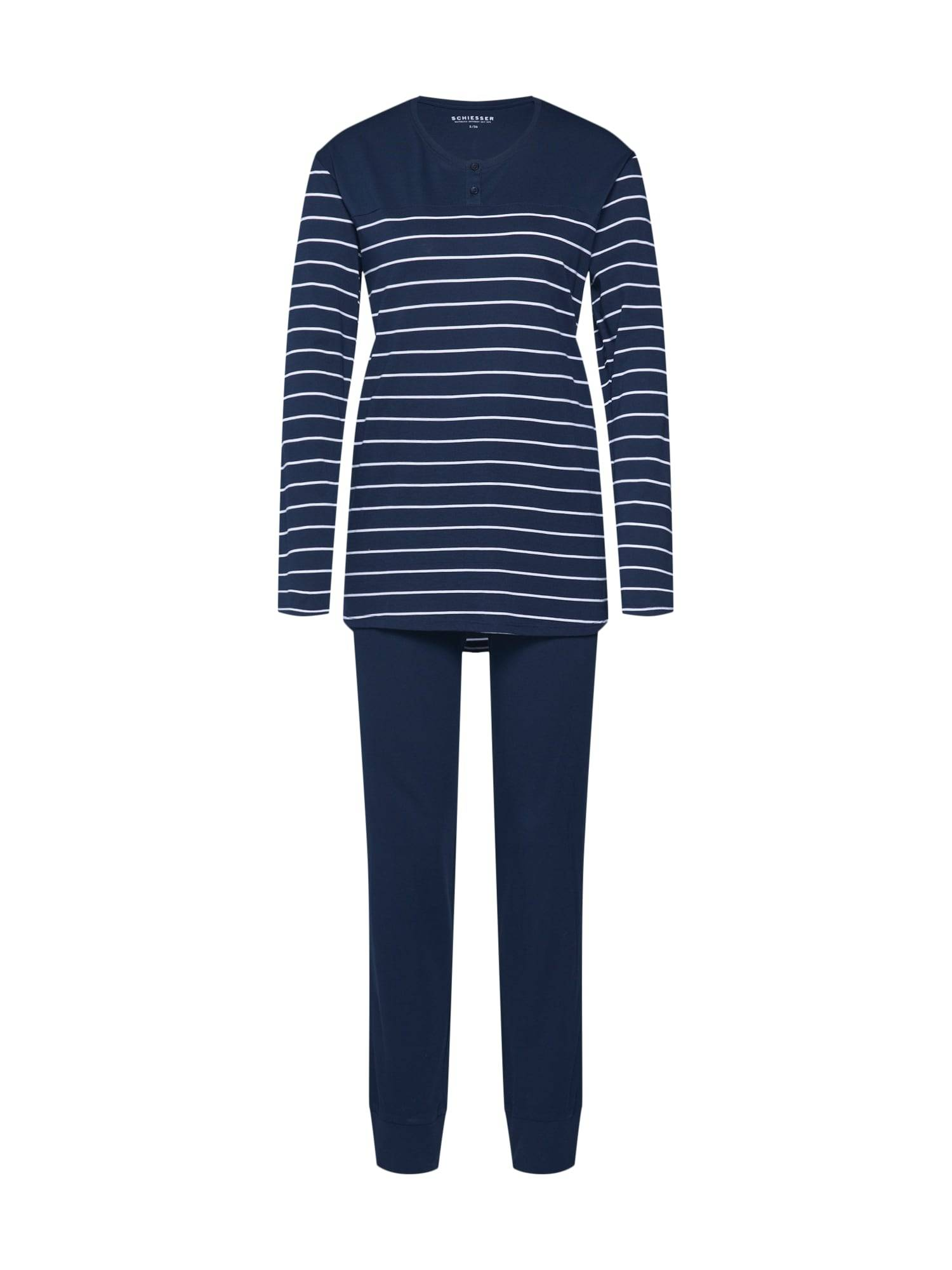 SCHIESSER Pyjama  - Bleu - Taille: 54 - female