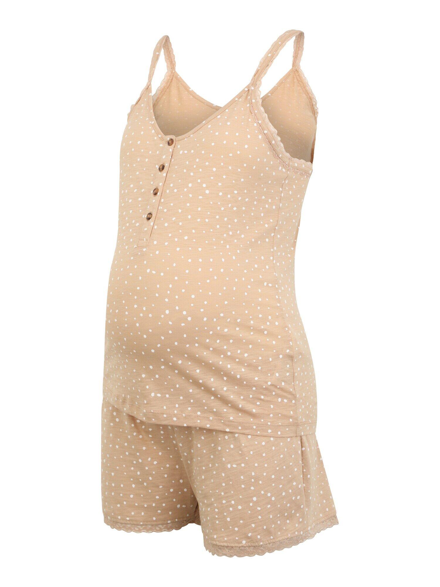 MAMALICIOUS Pyjama  - Beige - Taille: L - female