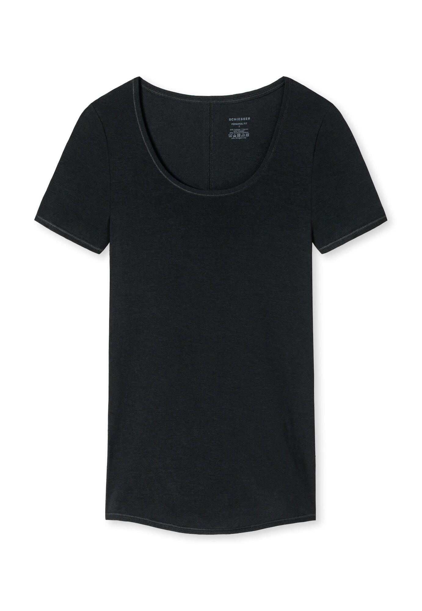 SCHIESSER Maillot de corps 'Personal Fit'  - Noir - Taille: XL - female
