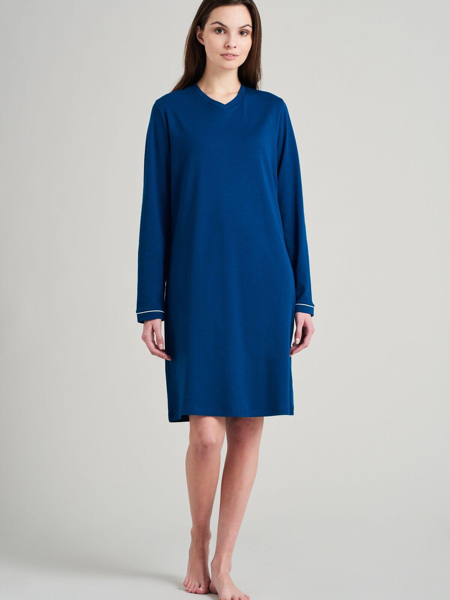 SEIDENSTICKER Chemise de nuit ' Classic Essential '  - Bleu - Taille: 48 - female