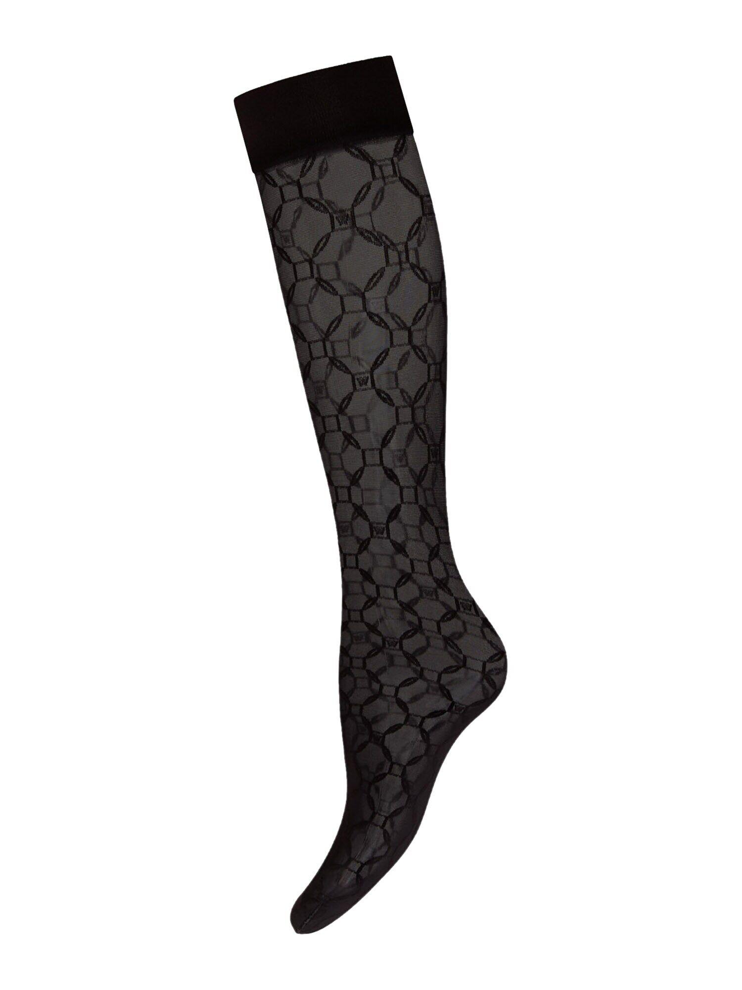 Wolford Chaussettes montantes 'Aurora'  - Noir - Taille: M - female