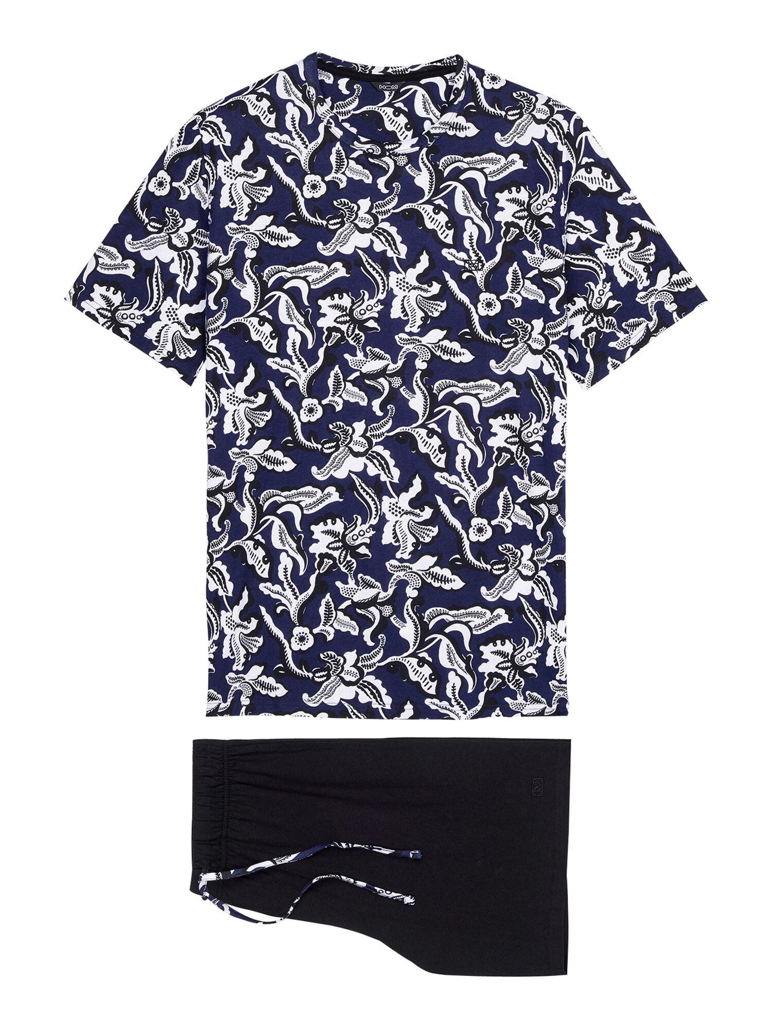 HOM Pyjama court ' Catalan '  - Bleu - Taille: XXL - male