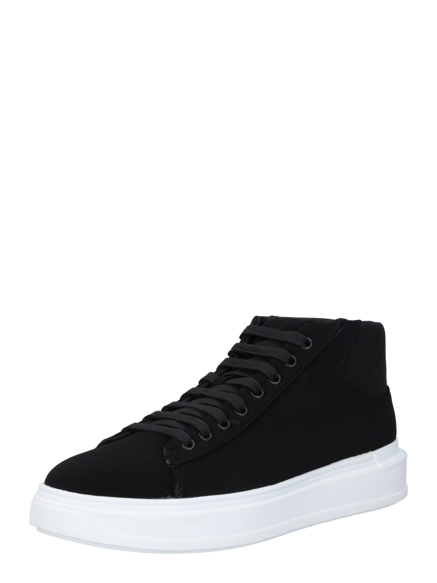River Island Baskets hautes 'Silk Mid Top Wedge Trainer'  - Noir - Taille: 8 - male