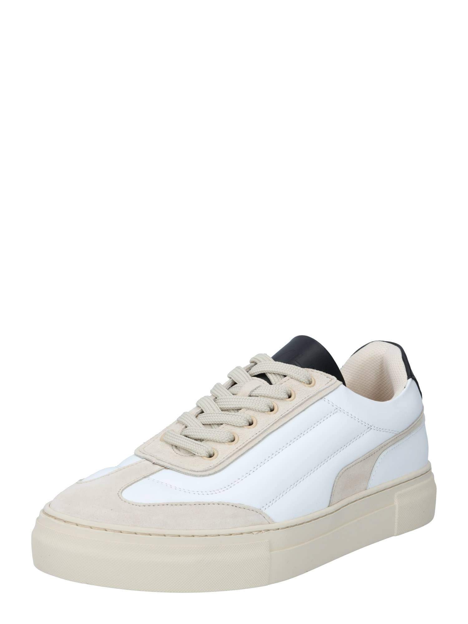 SELECTED HOMME Baskets basses 'SLHDAVID CHUNKY QUILT LEATHER TRAINER B'  - Blanc, Beige - Taille: 44 - male