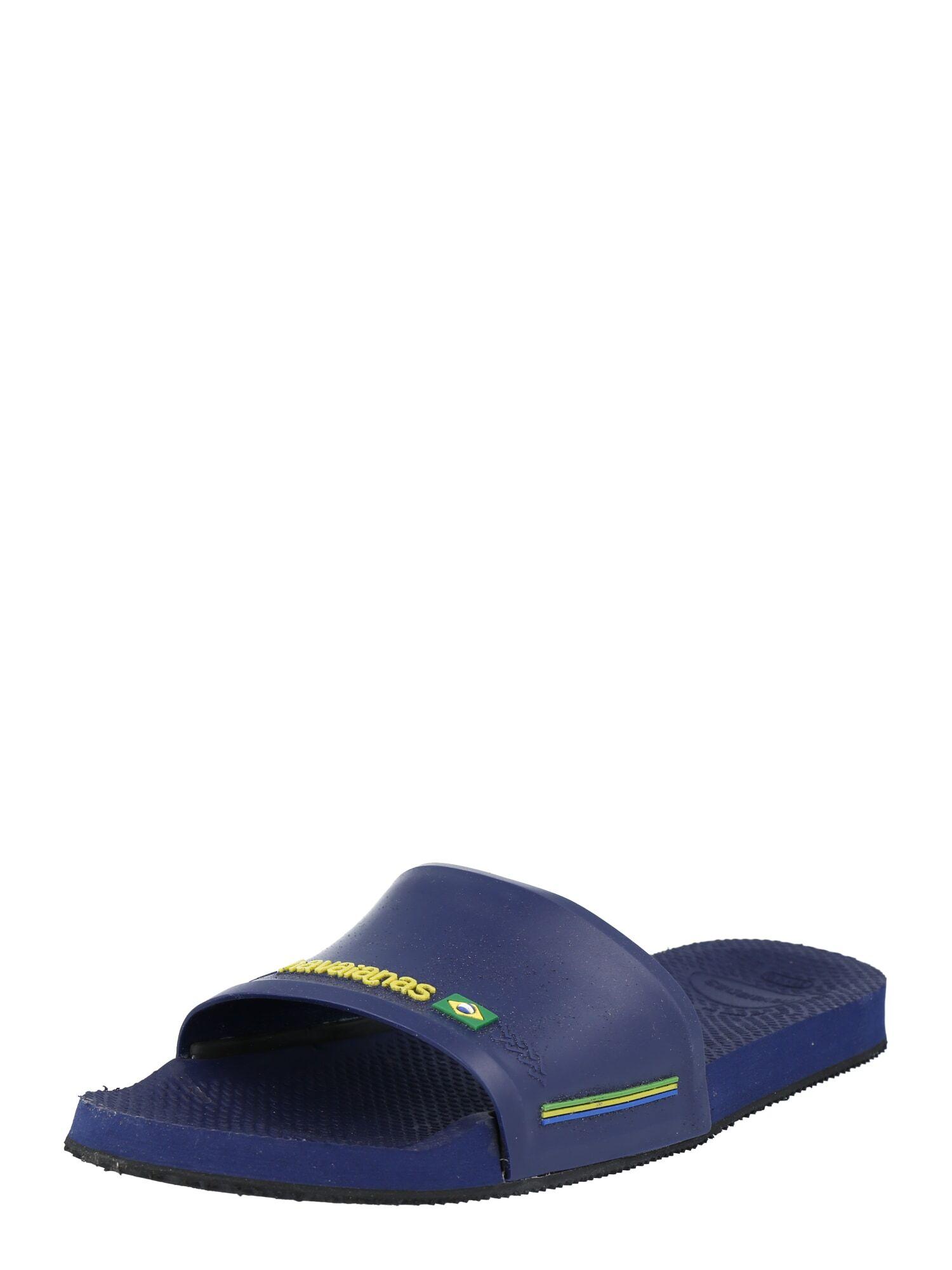 HAVAIANAS Mule 'Slide Brasil'  - Bleu - Taille: 37-38 - female